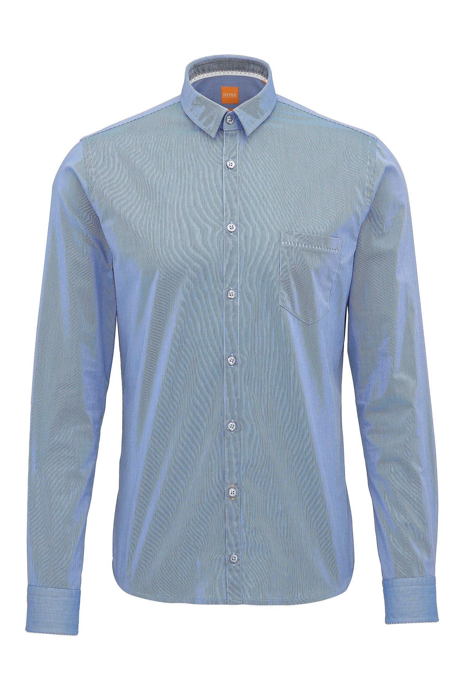 Dobby Cotton Button-Down Shirt, Extra Slim Fit   Eglam