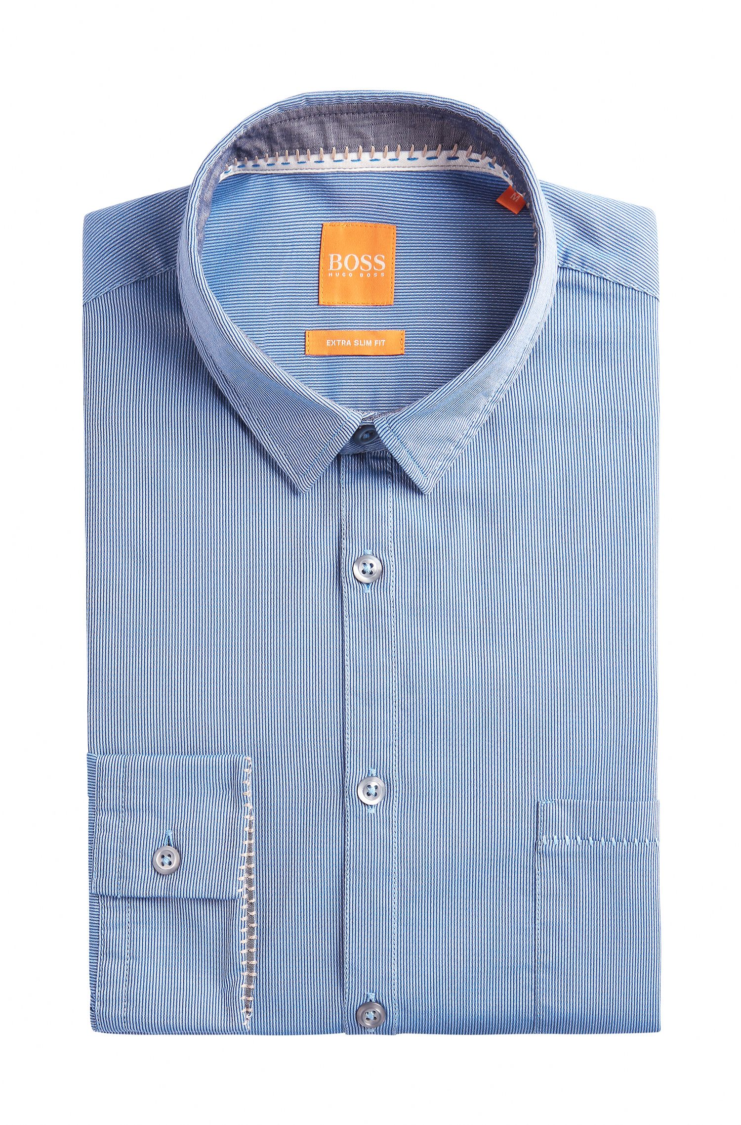 Dobby Cotton Button-Down Shirt, Extra Slim Fit | Eglam