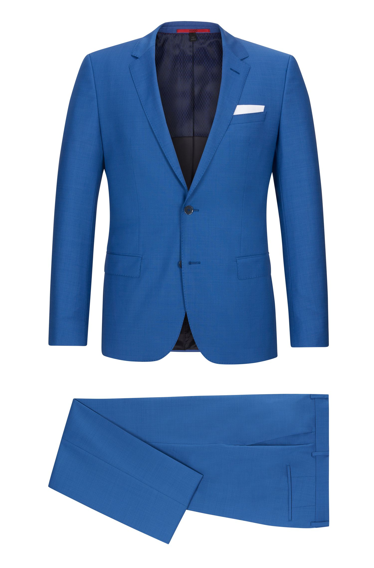 Basketweave Virgin Wool Suit, Slim Fit | C-Hutson/C-Gander