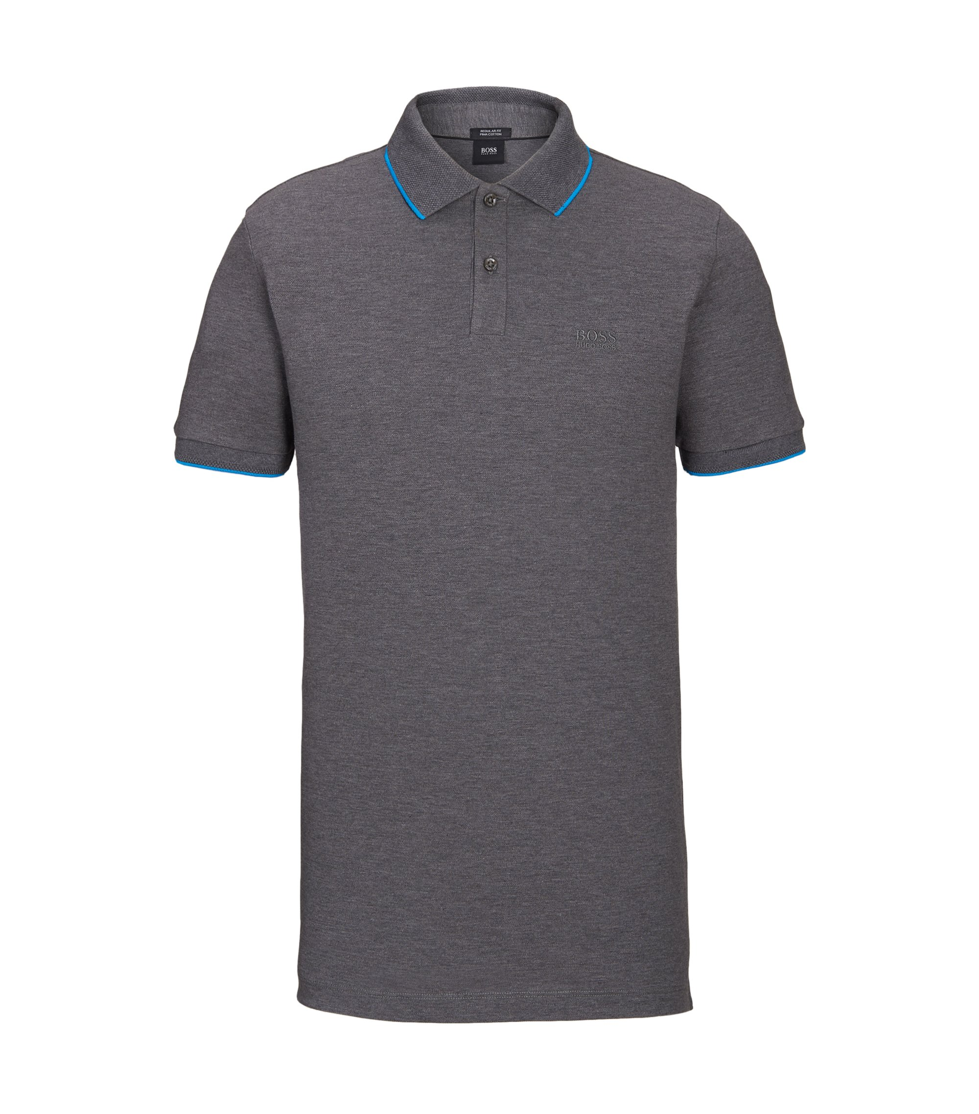 Cotton Polo Shirt, Regular Fit | Parlay , Grey
