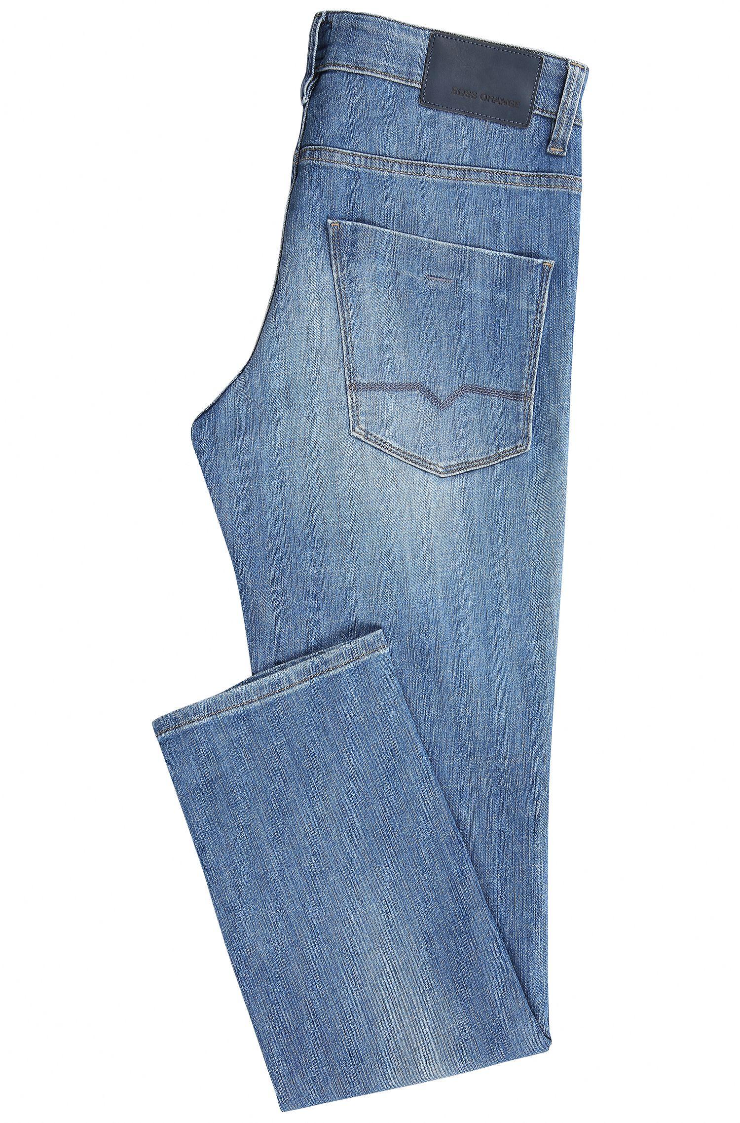 Stone Wash Stretch Cotton Jean, Slim Leg | Orange63