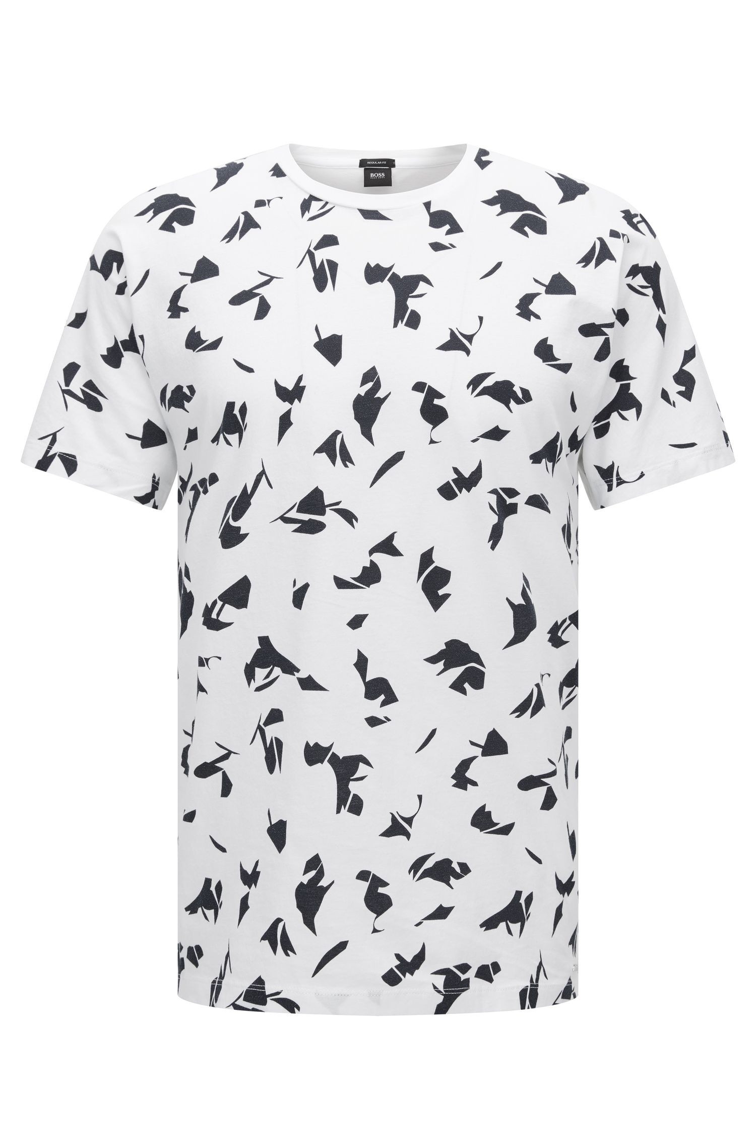 Patterned Cotton T-Shirt | Tiburt
