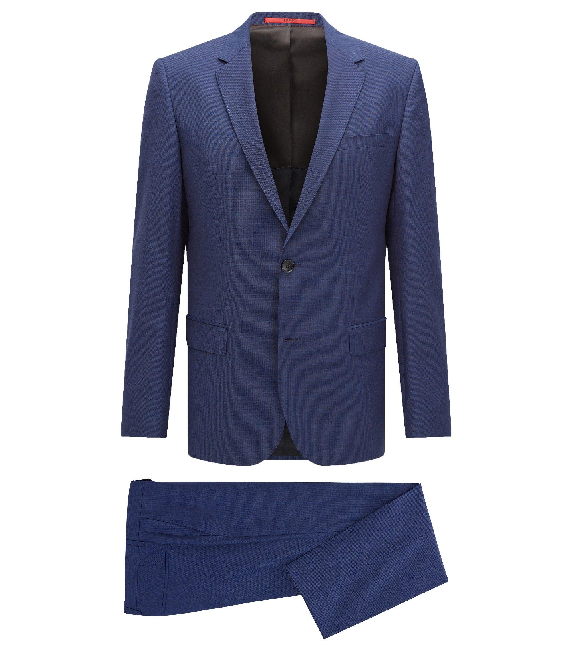Nailhead Italian Wool Suit, Slim Fit | C-Huge/C-Genius, Open Blue