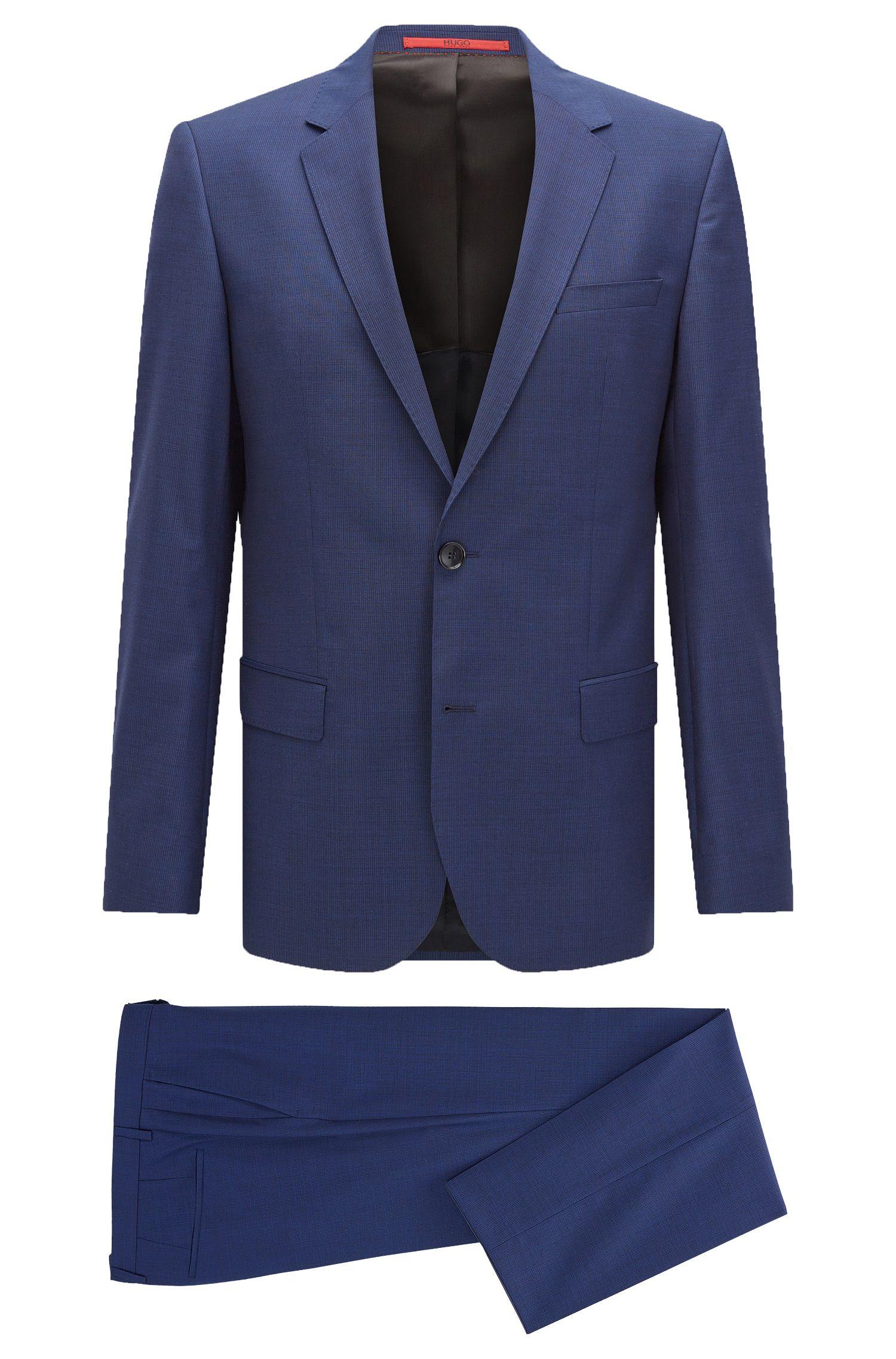 'C-Huge/C-Genius'   Slim Fit, Nailhead Italian Extra-Fine Virgin Wool Suit