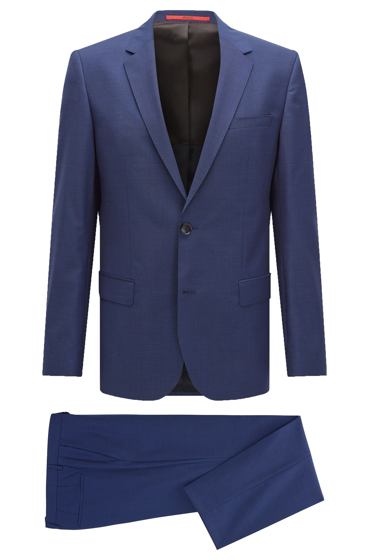 Nailhead Italian Wool Suit, Slim Fit | C-Huge/C-Genius