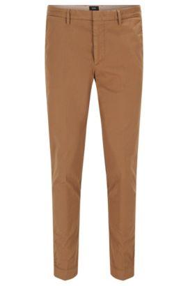 Gabardine Stretch Cotton Chino Pants, Slim Fit   Kaito Pat D, Beige