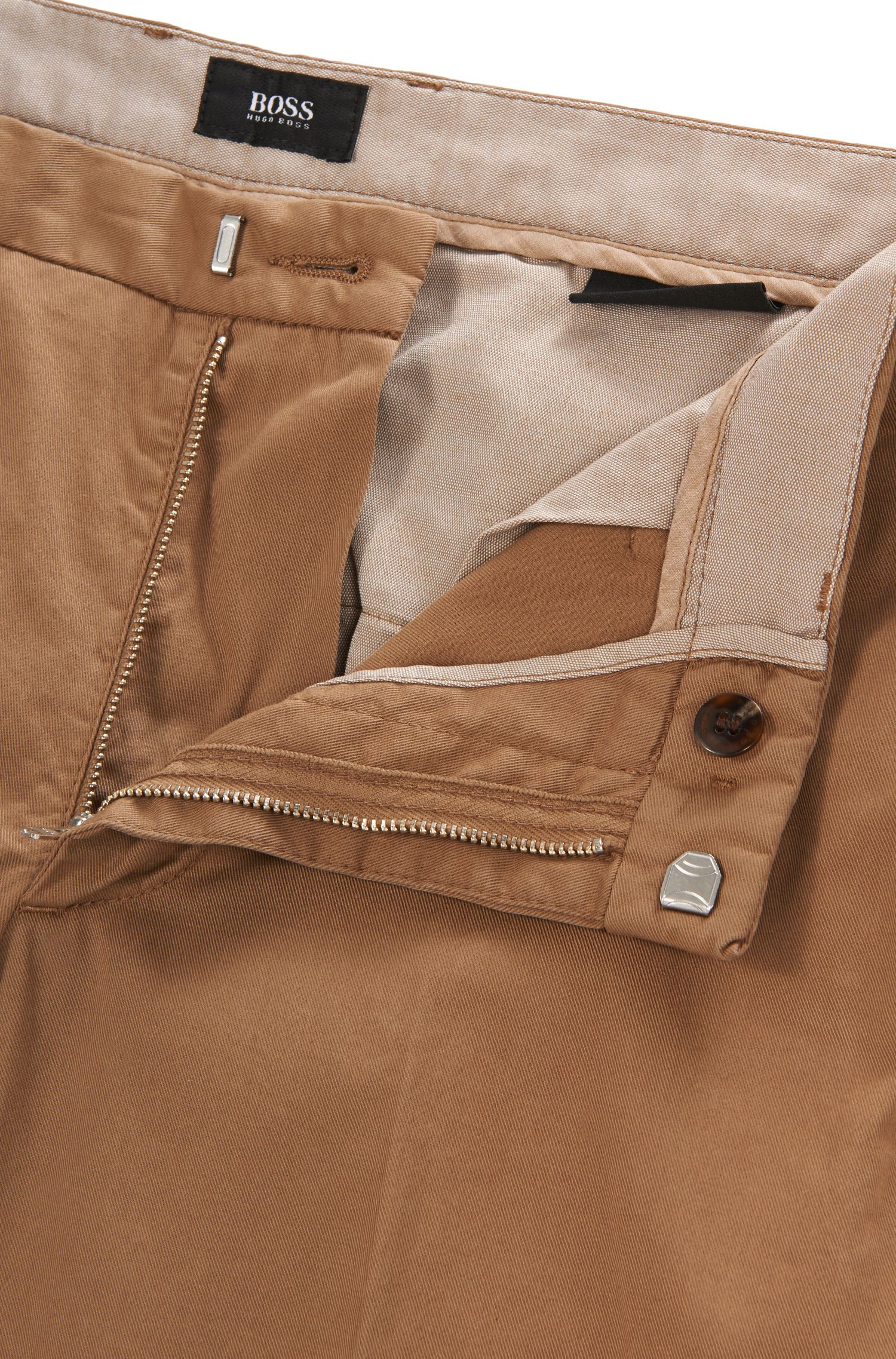Gabardine Stretch Cotton Chino Pants, Slim Fit | Kaito Pat D