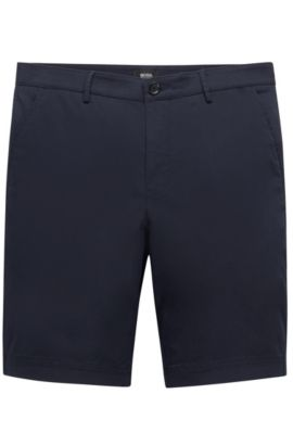 'Crigan Short W' | Regular Fit, Stretch Cotton Shorts, Dark Blue