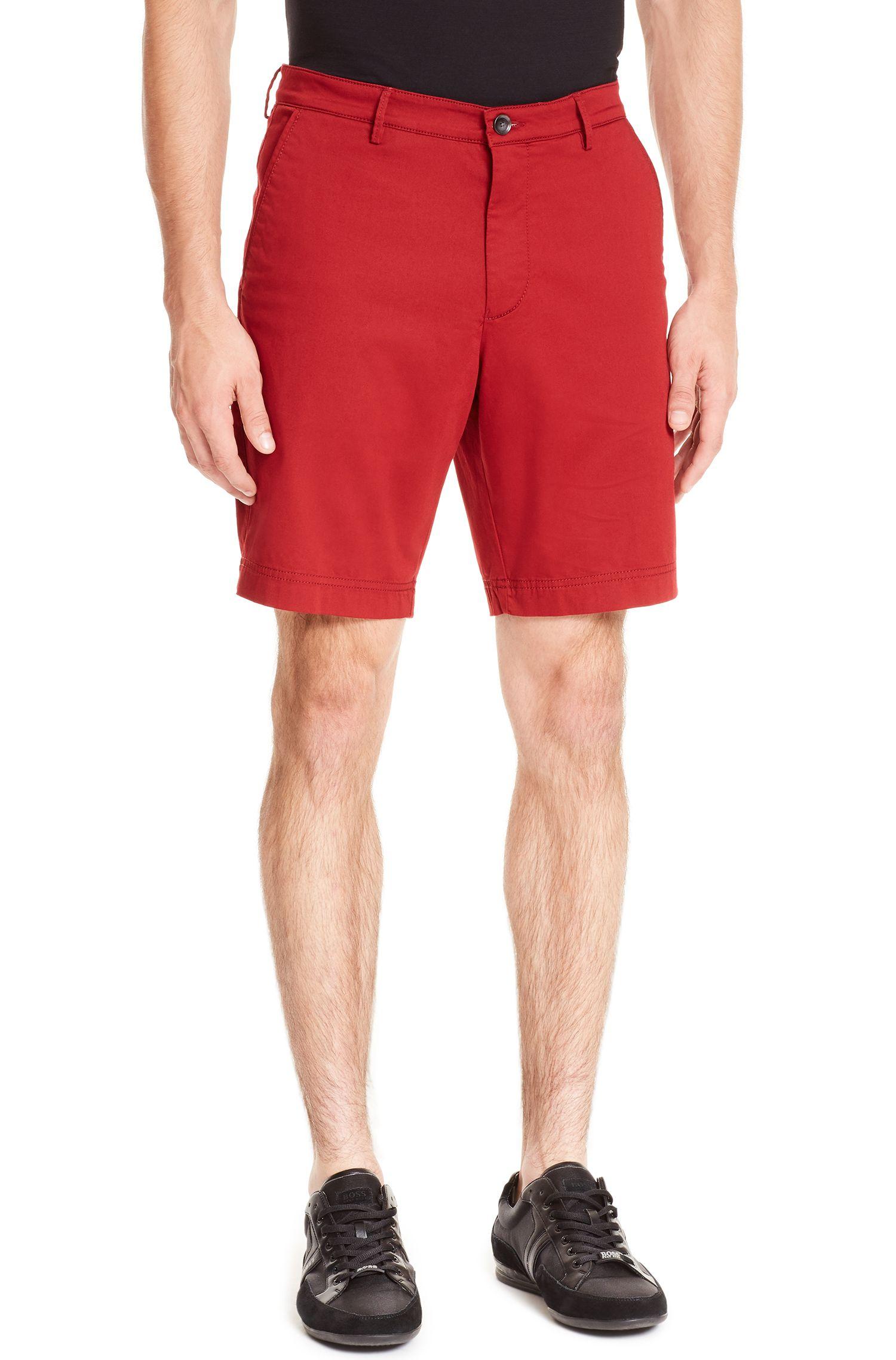 Stretch Cotton Short, Regular Fit | Crigan Short W, Red