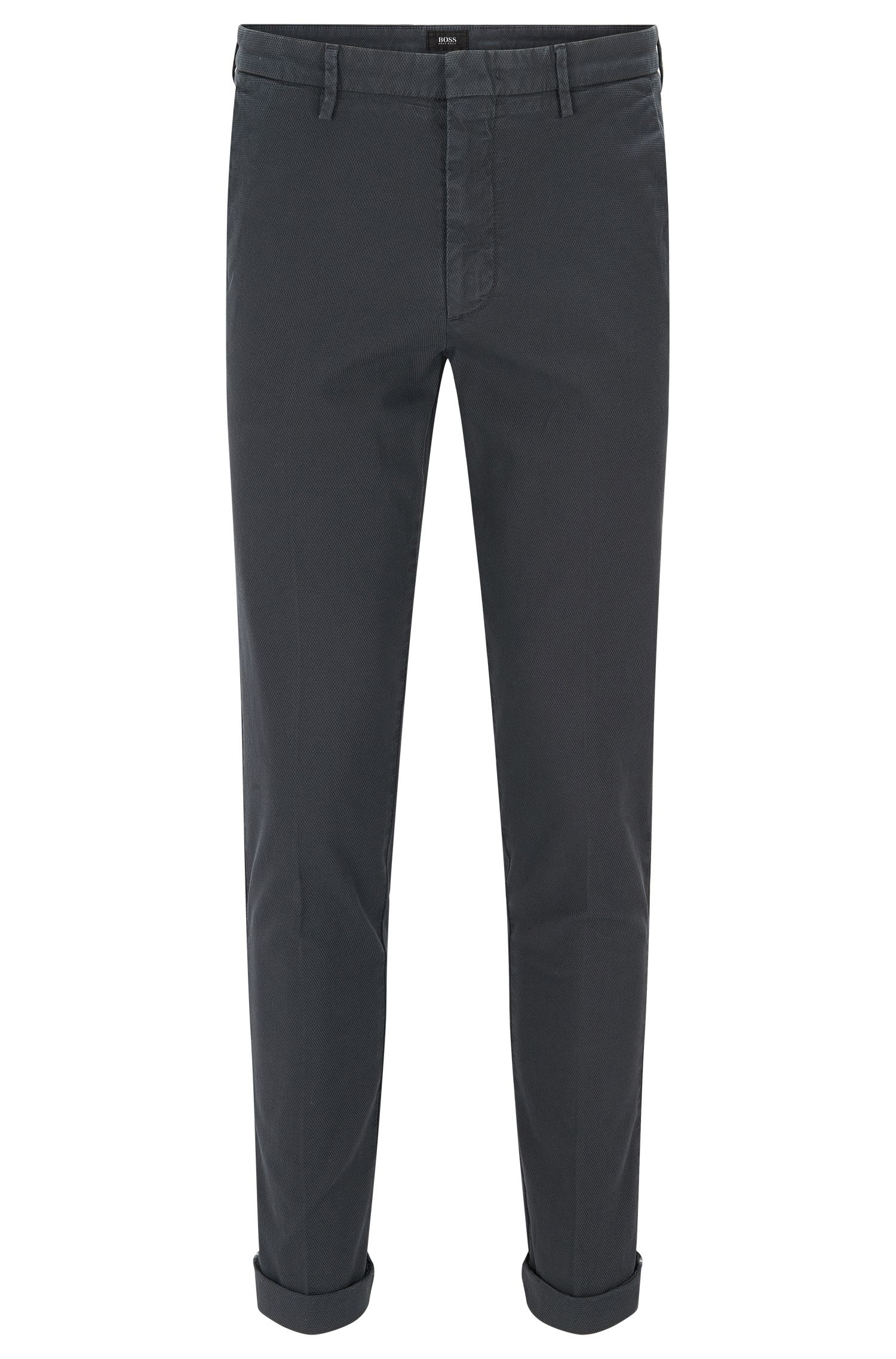 Garment-Dyed Stretch Cotton Chino Pant, Slim Fit | Kaito W, Dark Grey
