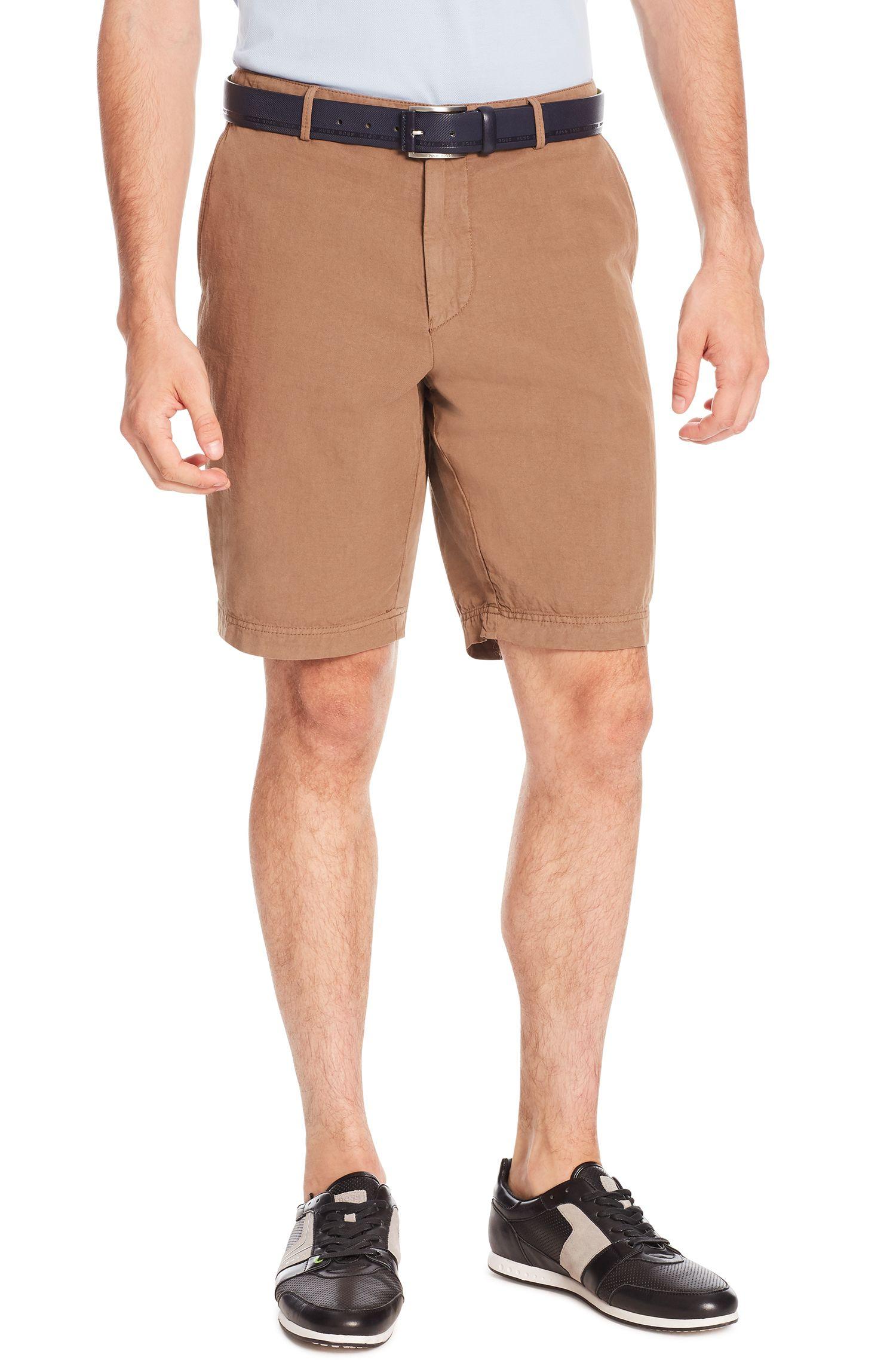 Cotton Linen Shorts, Regular Fit | Crigan Short D