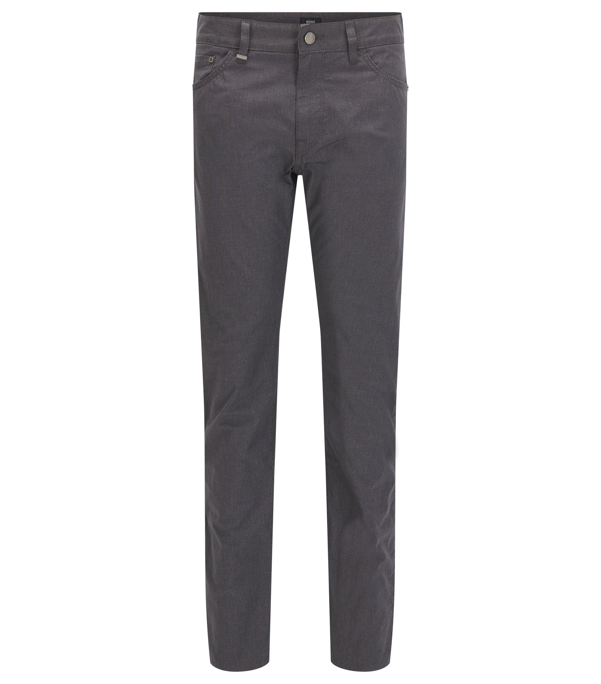 9 oz Basketweave Italian Stretch Cotton Pants, Regular Fit | Maine, Dark Grey