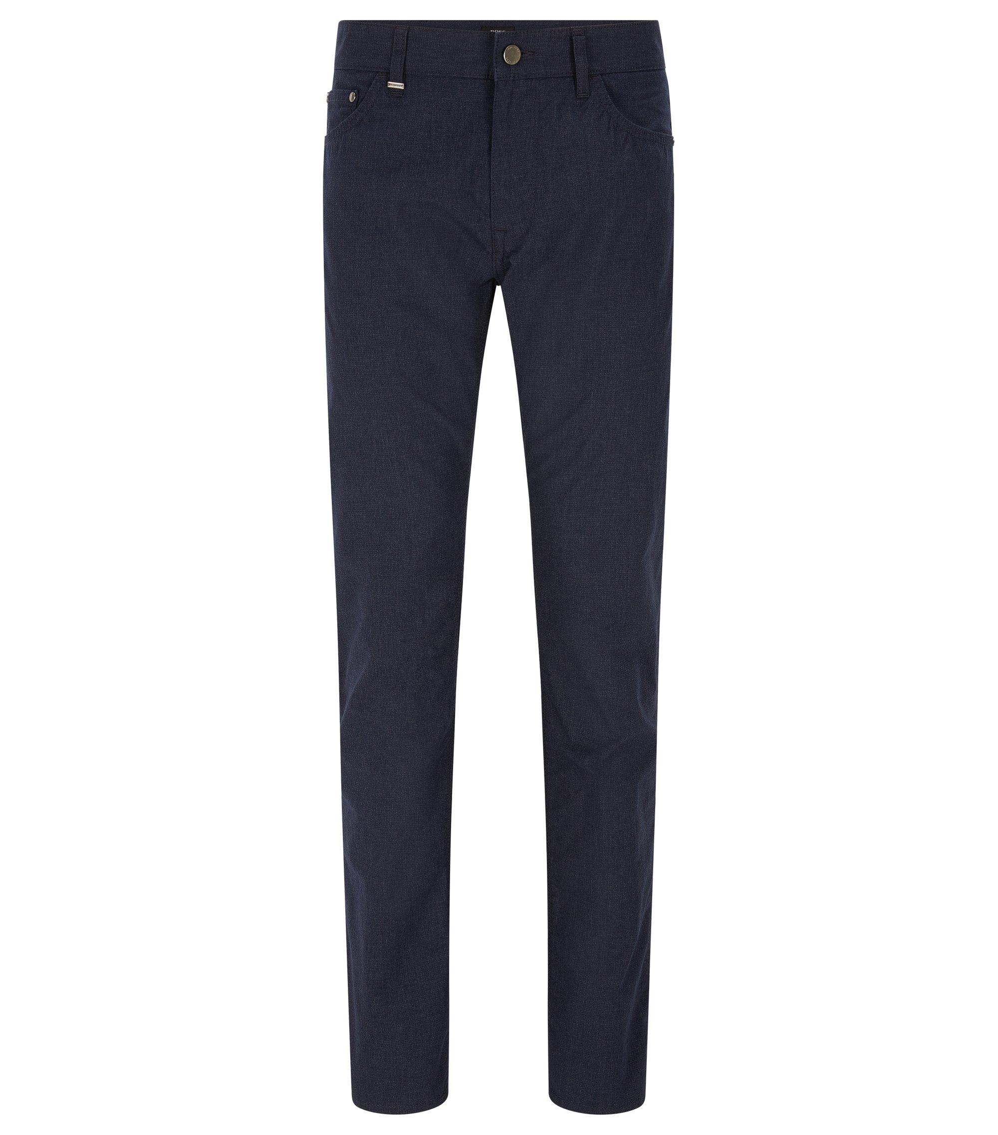 9 oz Basketweave Stretch Cotton Pant, Regular Fit | Maine, Dark Blue