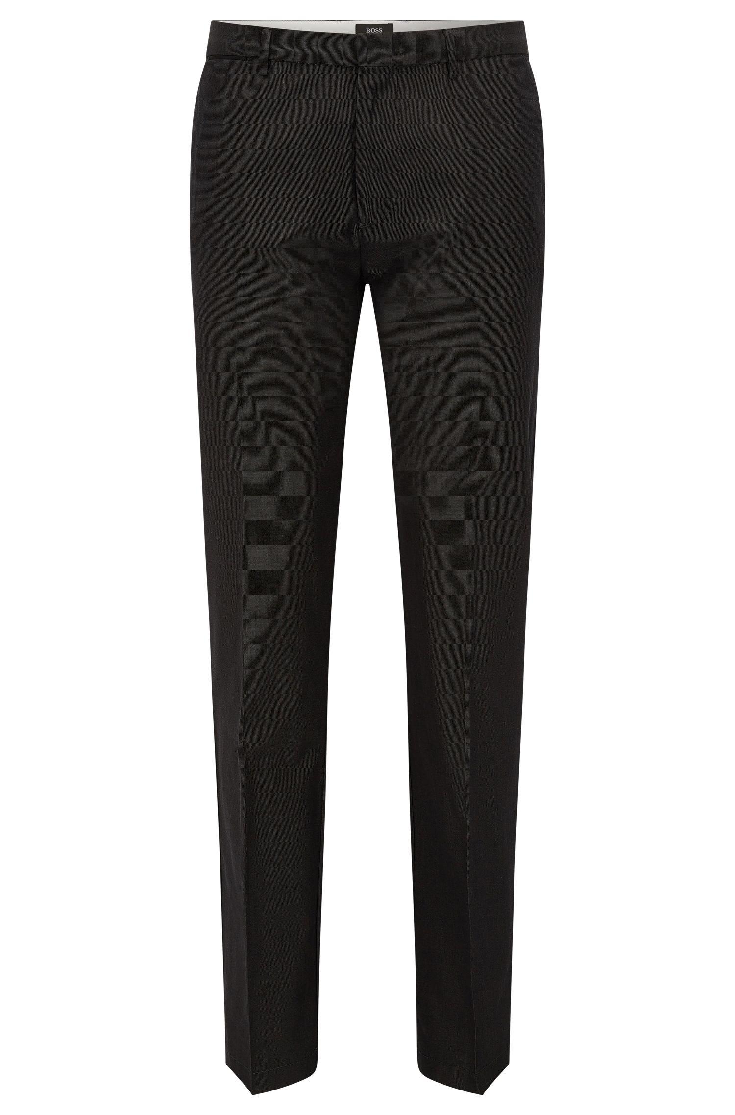 Cotton-Silk Pant, Regular Fit | Crigan Luxe W, Dark Grey
