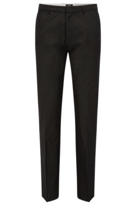 'Crigan Luxe W' | Regular Fit, Cotton-Silk Trousers, Dark Grey