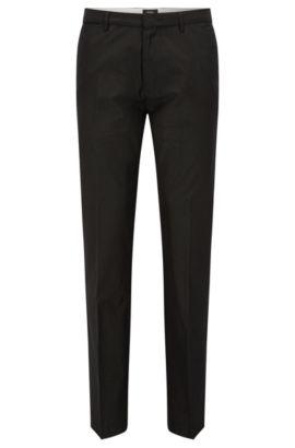 'Crigan Luxe W' | Regular Fit, Cotton-Silk Trousers, Dark Grey