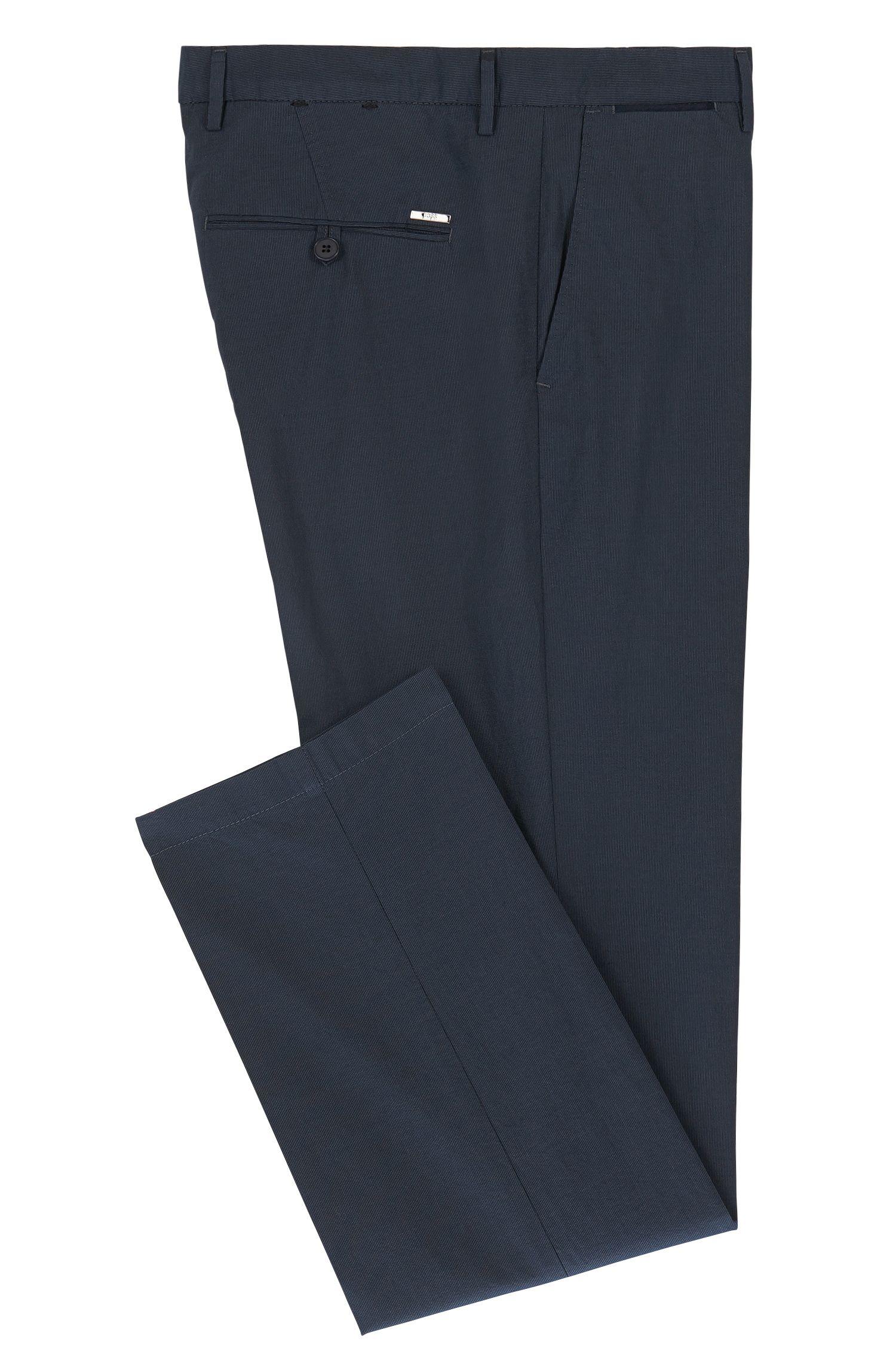 Cotton-Silk Pant, Regular Fit | Crigan Luxe W, Dark Blue