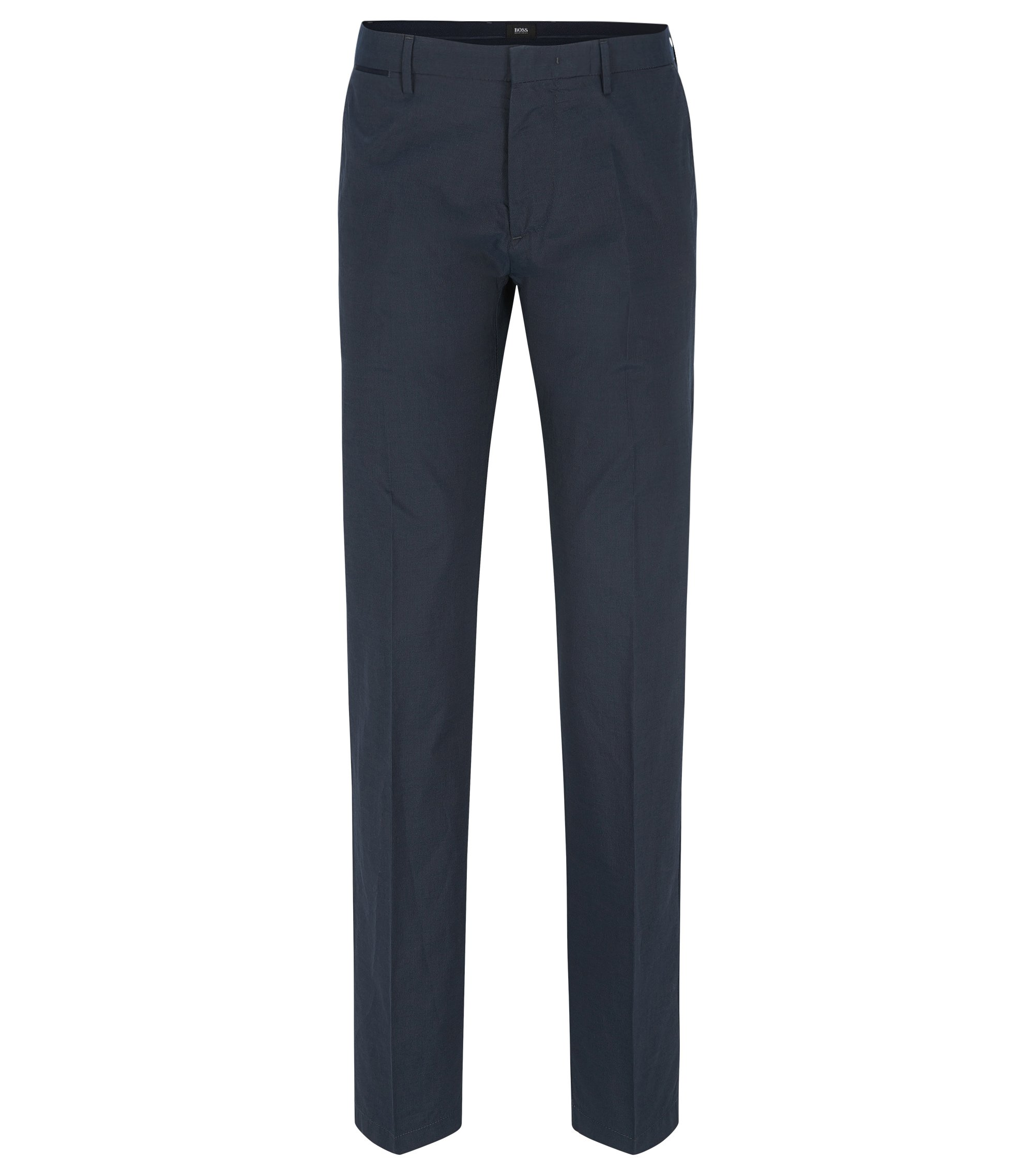 Cotton-Silk Pant, Regular Fit | Crigan Luxe W, Dark Blue