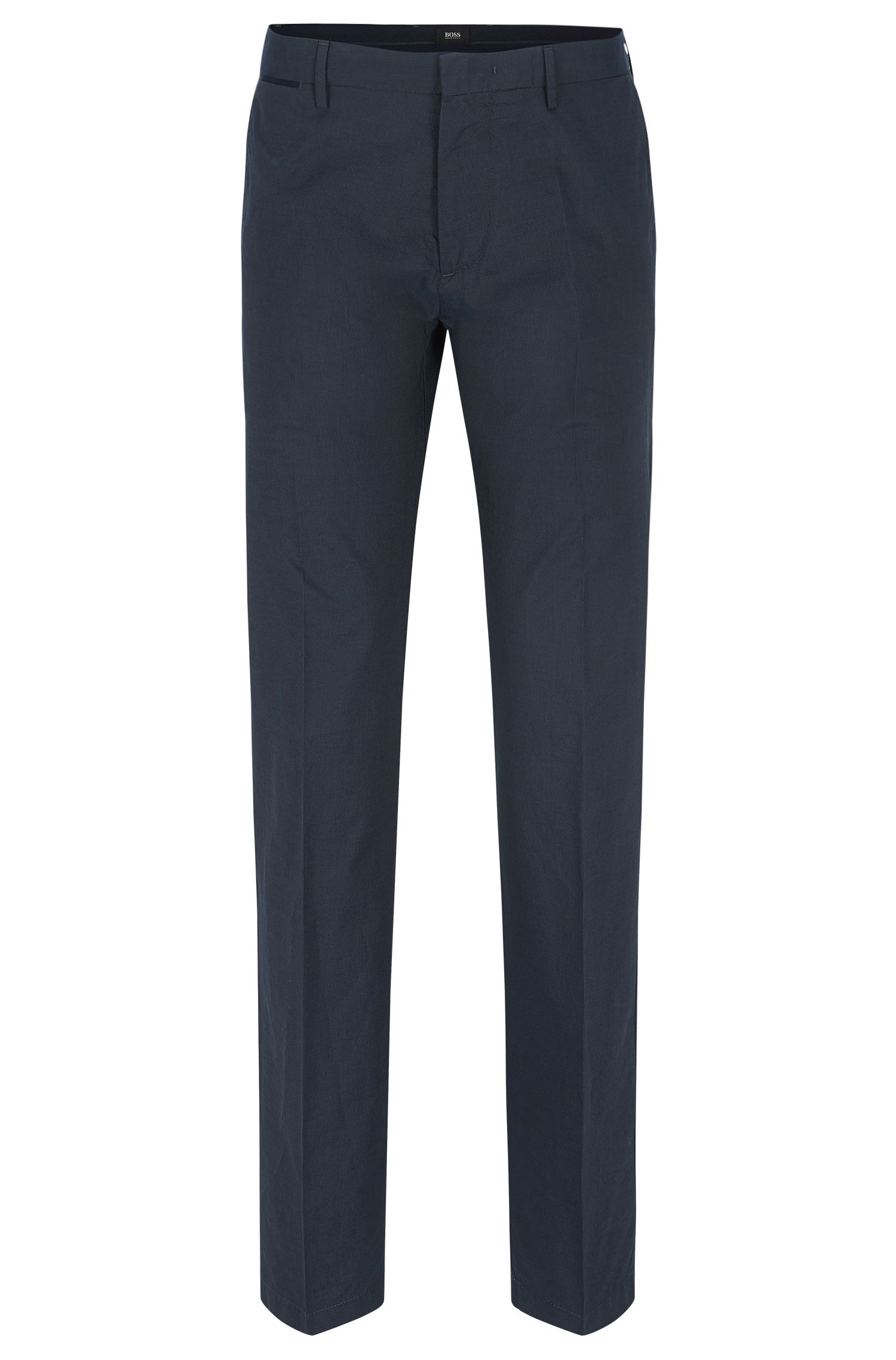 'Crigan Luxe W' | Regular Fit, Cotton-Silk Trousers