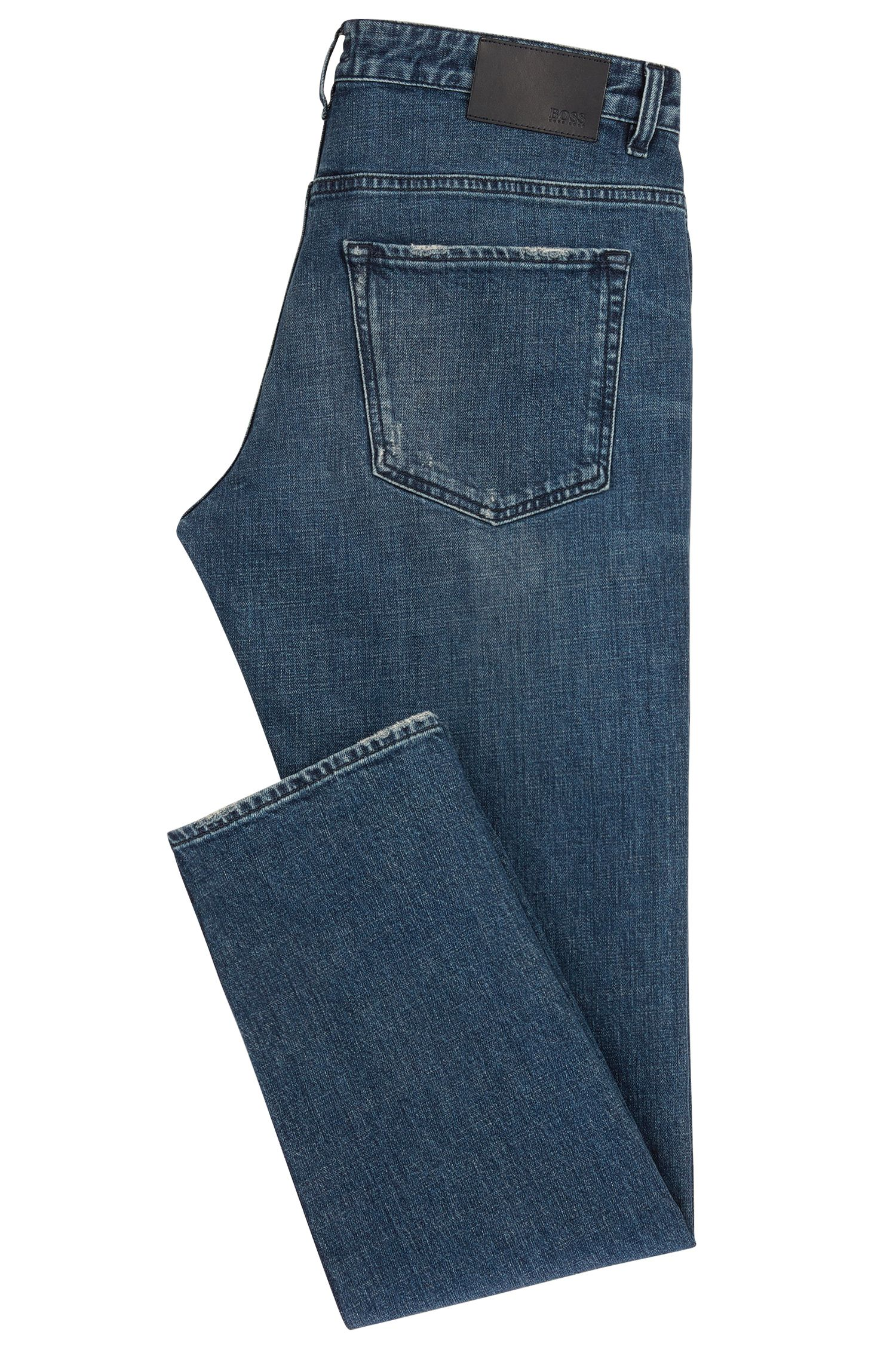 12 oz Stretch Cotton Jeans, Slim Fit | Delaware