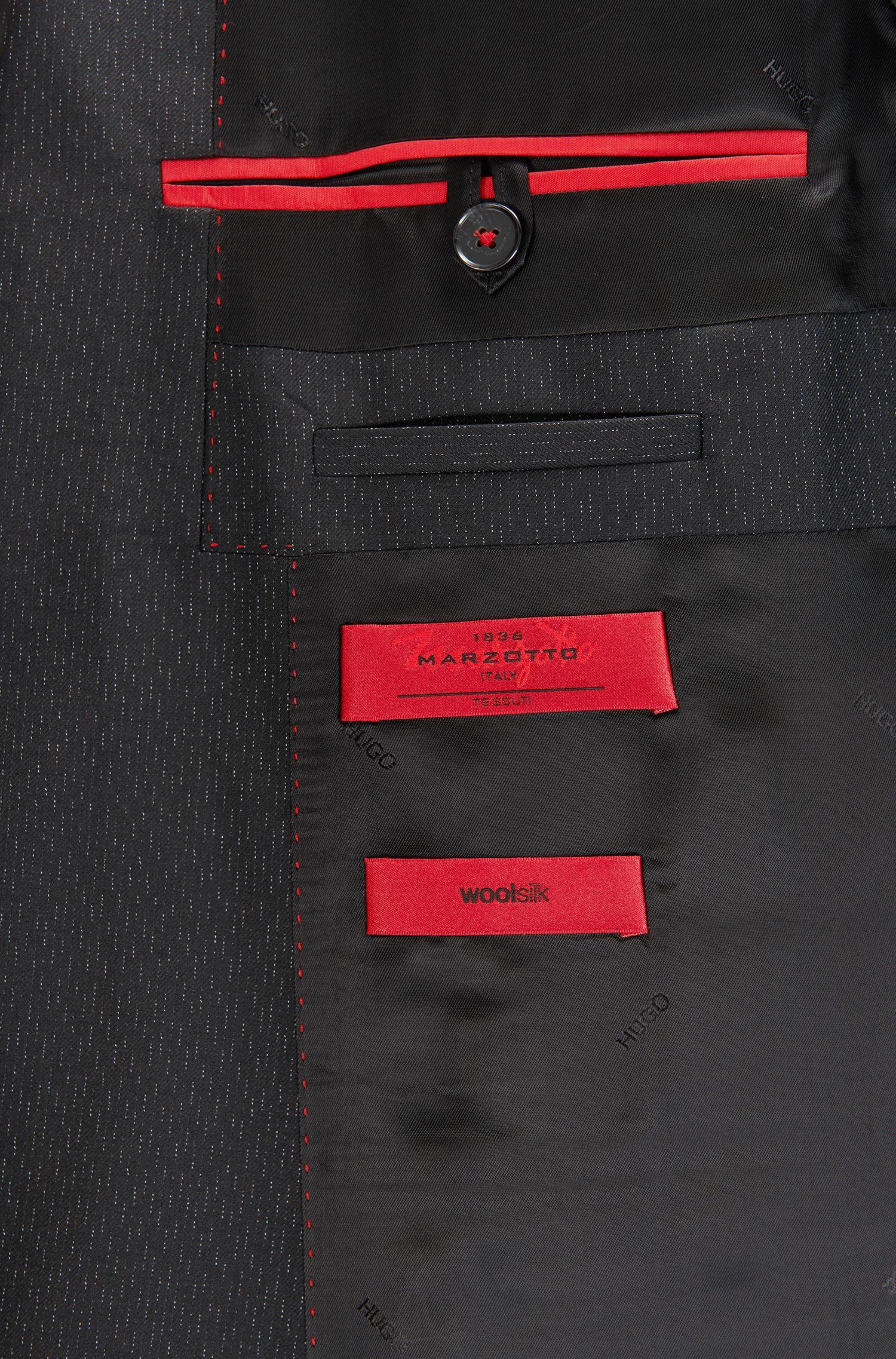 Italian Virgin Wool Silk Suit, Extra-Slim Fit | Arti/Hesten