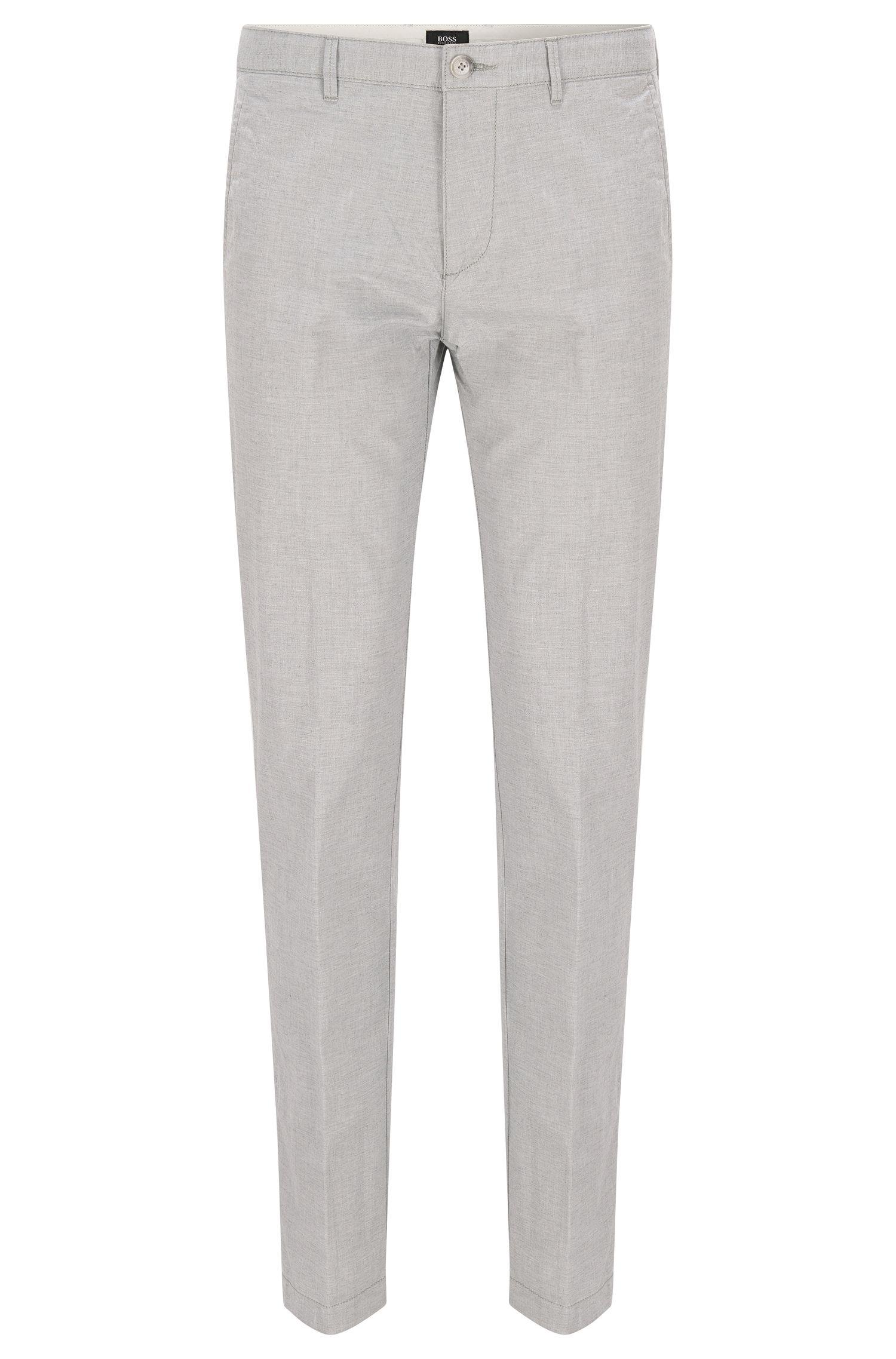 Yarn Dyed Stretch Cotton Pants, Regular Fit   Crigan