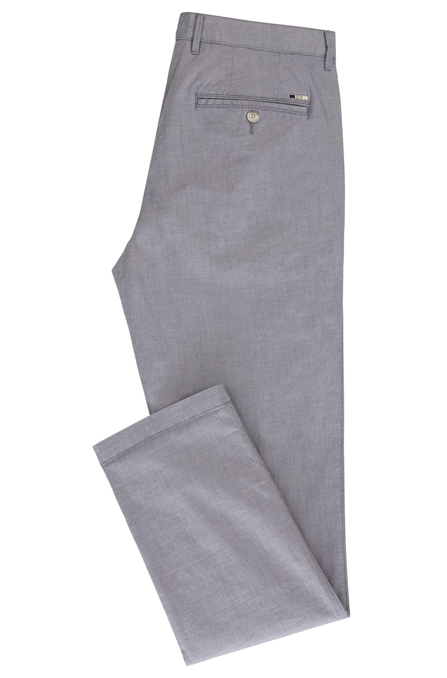 Yarn Dyed Stretch Cotton Pant, Regular Fit | Crigan
