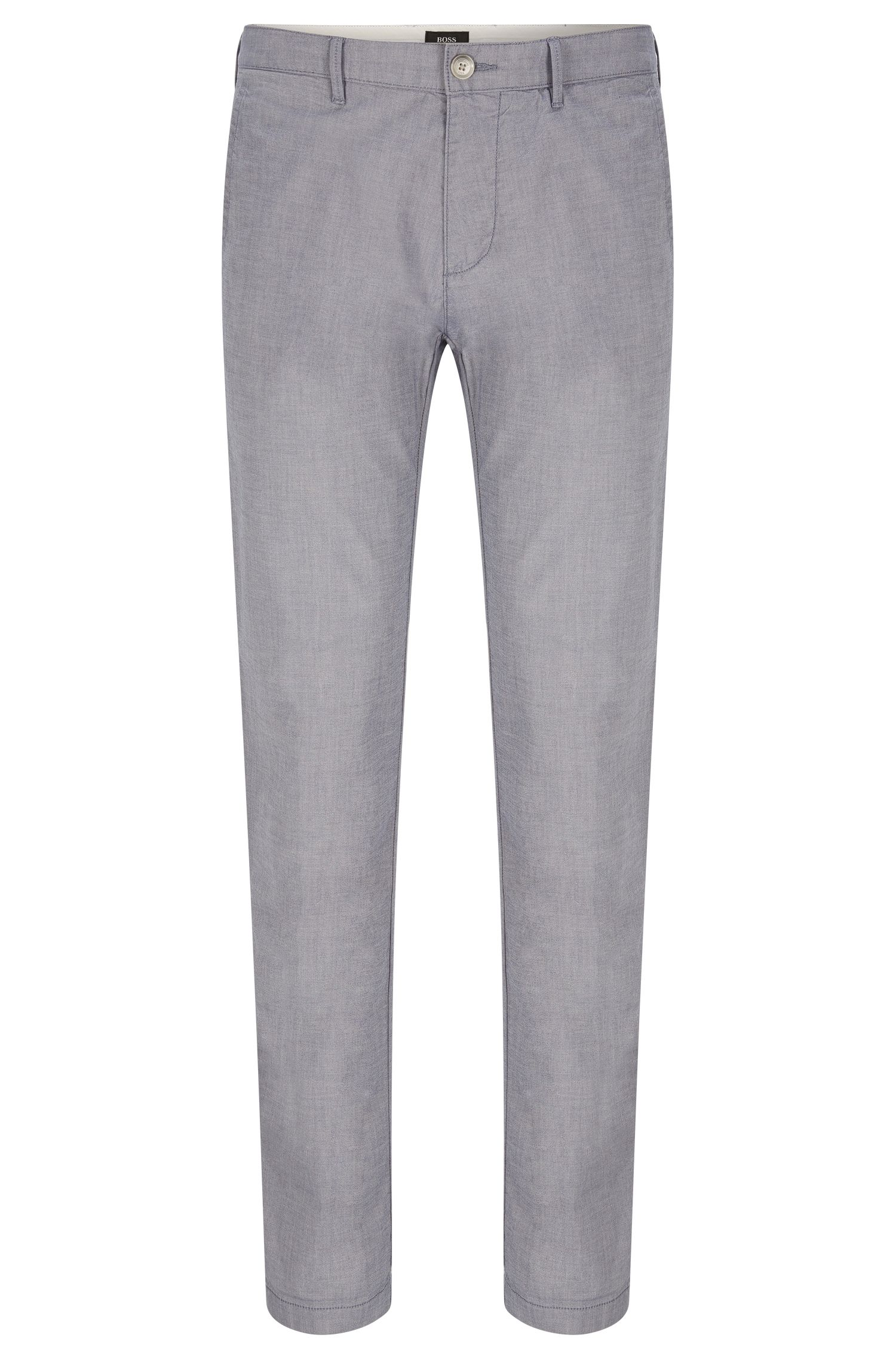 Yarn Dyed Stretch Cotton Pants, Regular Fit | Crigan