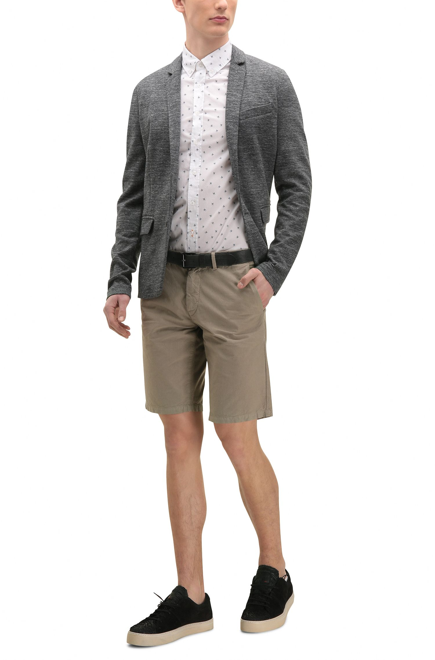 Printed Cotton Button-Down Shirt, Slim Fit   Epreppy