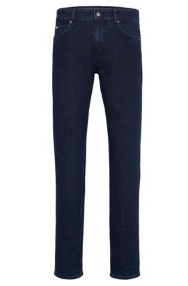 8 oz Stretch Cotton Jeans, Slim Fit | Delaware, Dark Blue