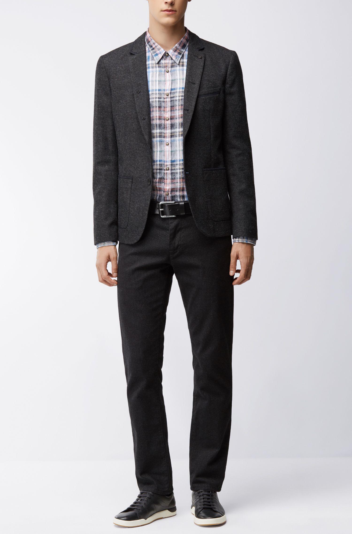 Plaid Cotton Sport Shirt, Extra Slim Fit | Erodeo