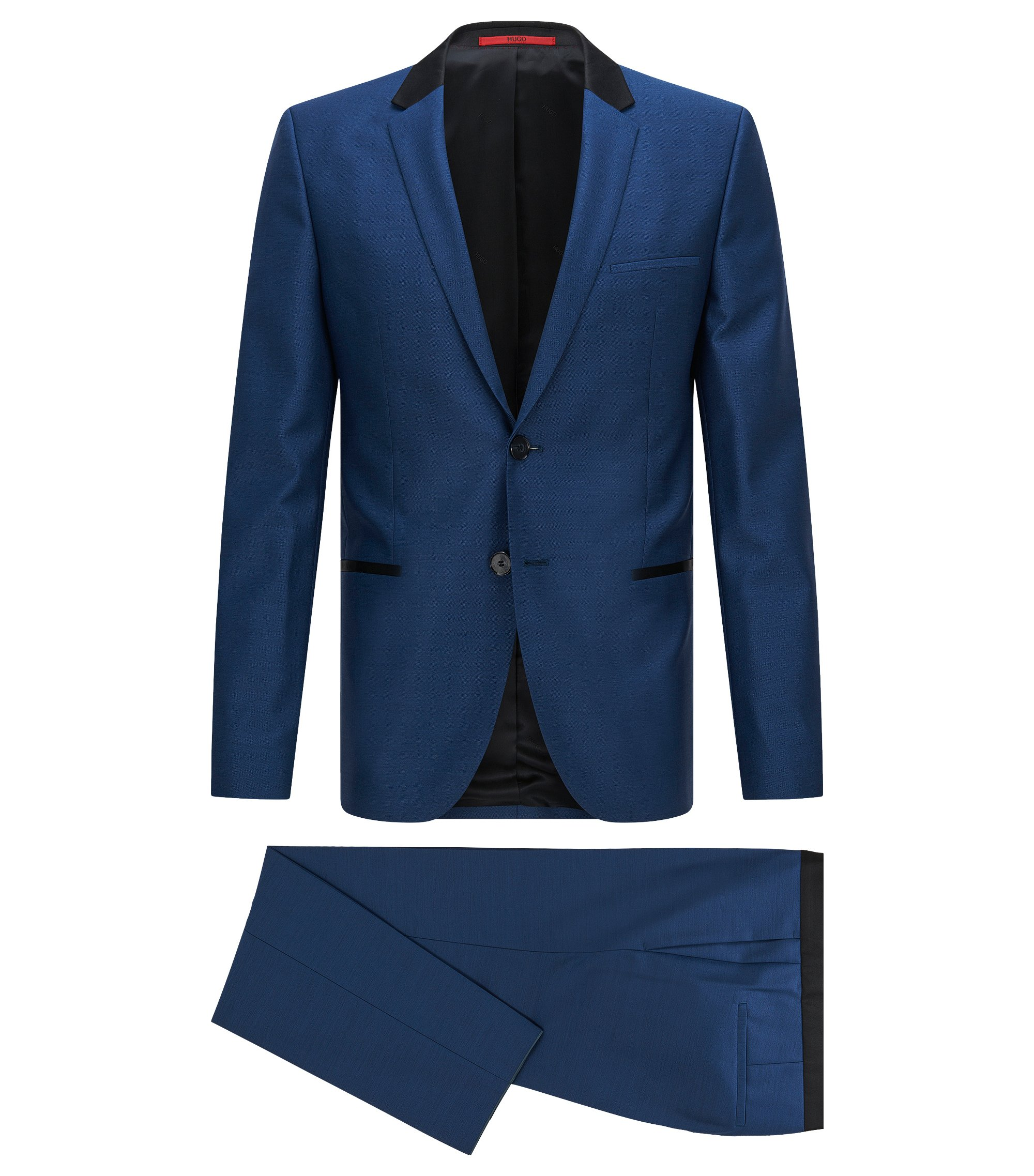 Virgin Wool Suit, Slim Fit | Anly/Hetin, Open Blue