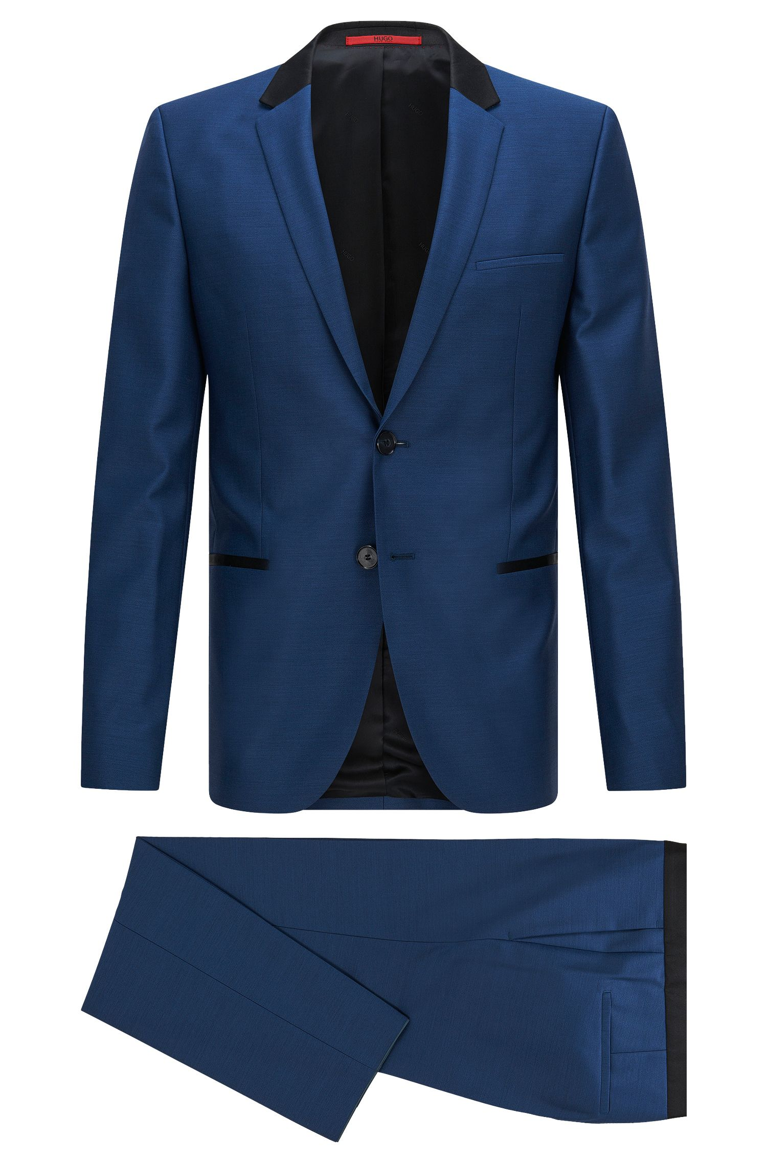 Super 110 Virgin Wool Suit, Slim Fit | Anly/Hetin