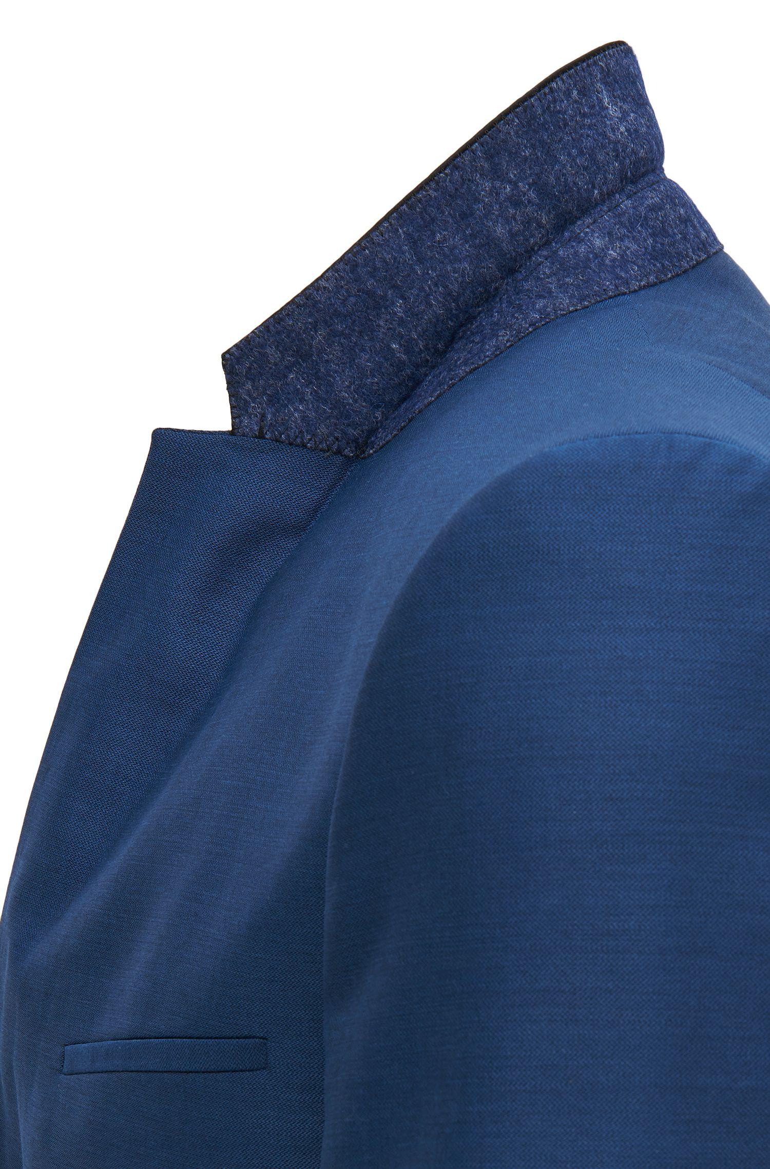 Virgin Wool Suit, Slim Fit | Anly/Hetin, Open Blue