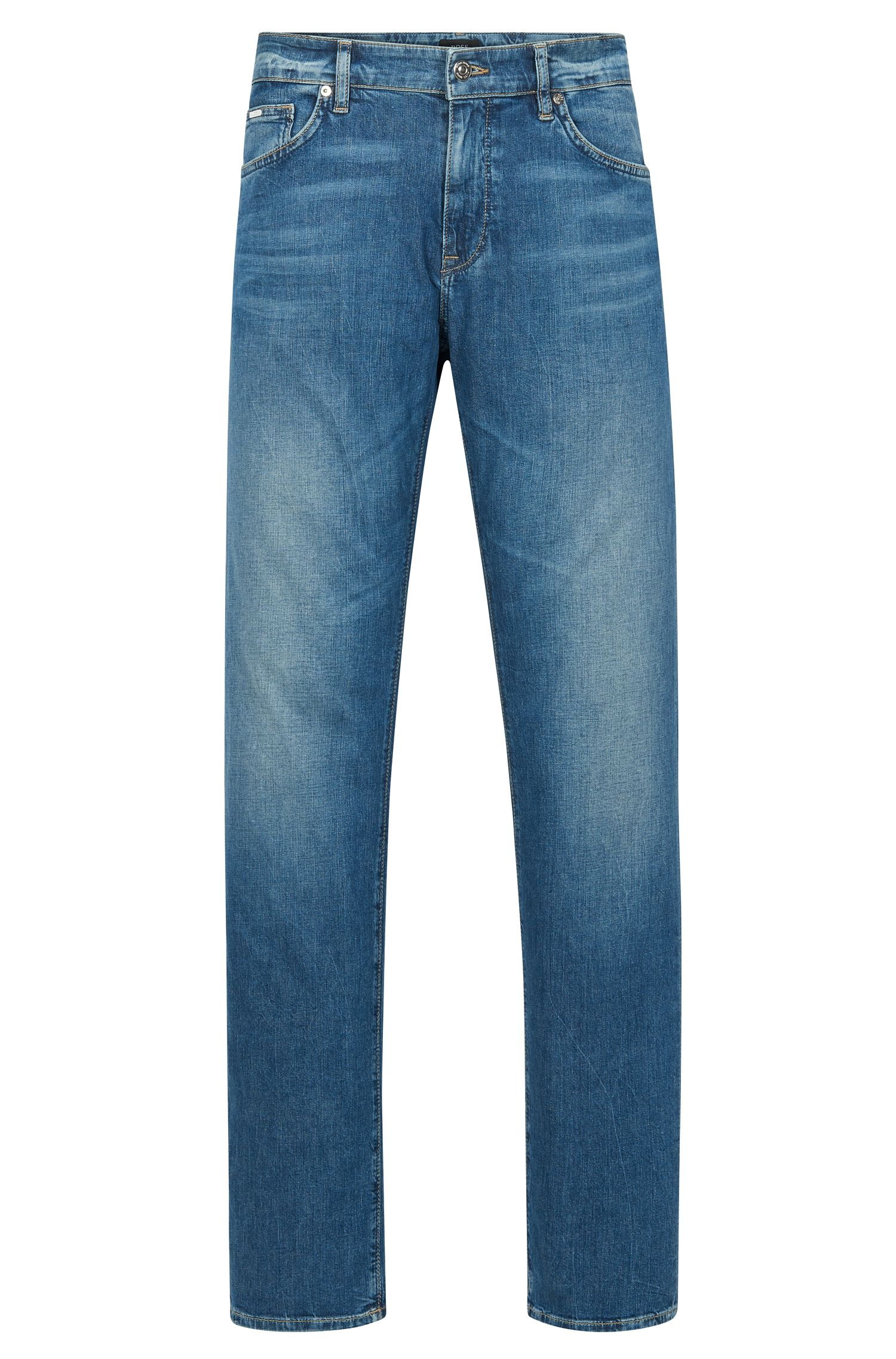9 oz Stretch Cotton Jeans, Regular Fit | Maine