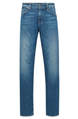 9 oz Stretch Cotton Jeans, Regular Fit | Maine, Blue