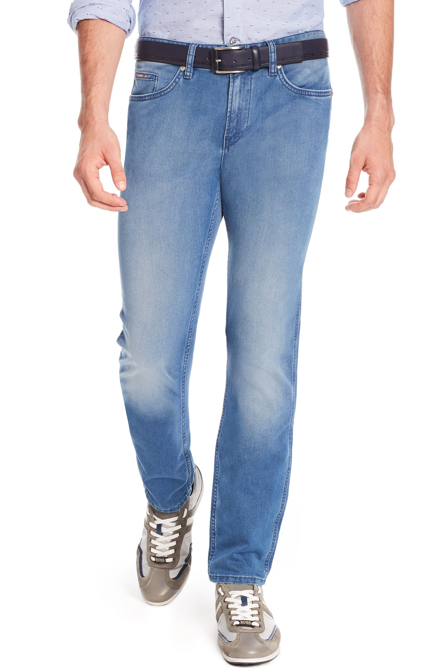 Stretch Cotton Jean, Slim Fit | Delaware, Blue