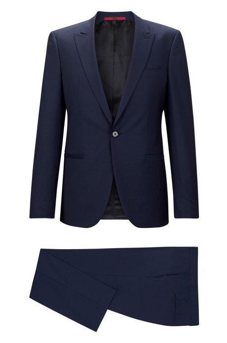 36102a2ac0 HUGO - Italian Virgin Wool Suit, Slim Fit | Adgin/Hiels