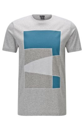 Cotton Graphic T-Shirt | Tilburt, Open Grey