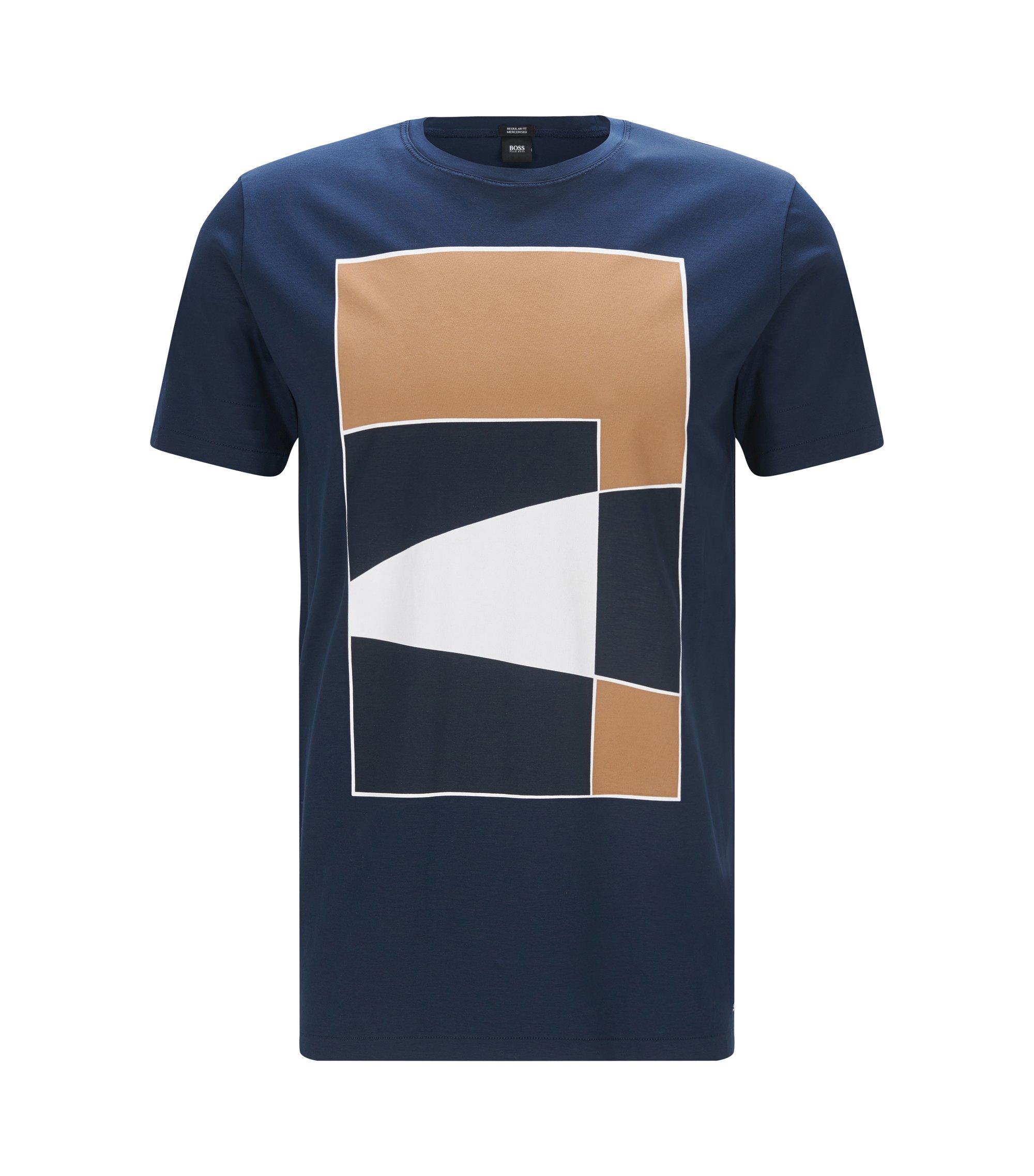 Cotton Graphic T-Shirt | Tilburt, Dark Blue