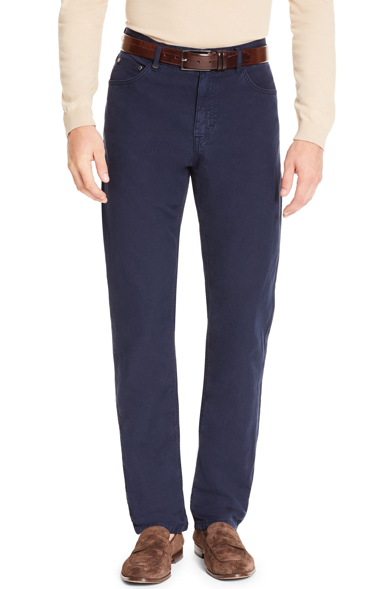 Italian Cotton Linen Pant, Relaxed Fit | Albany