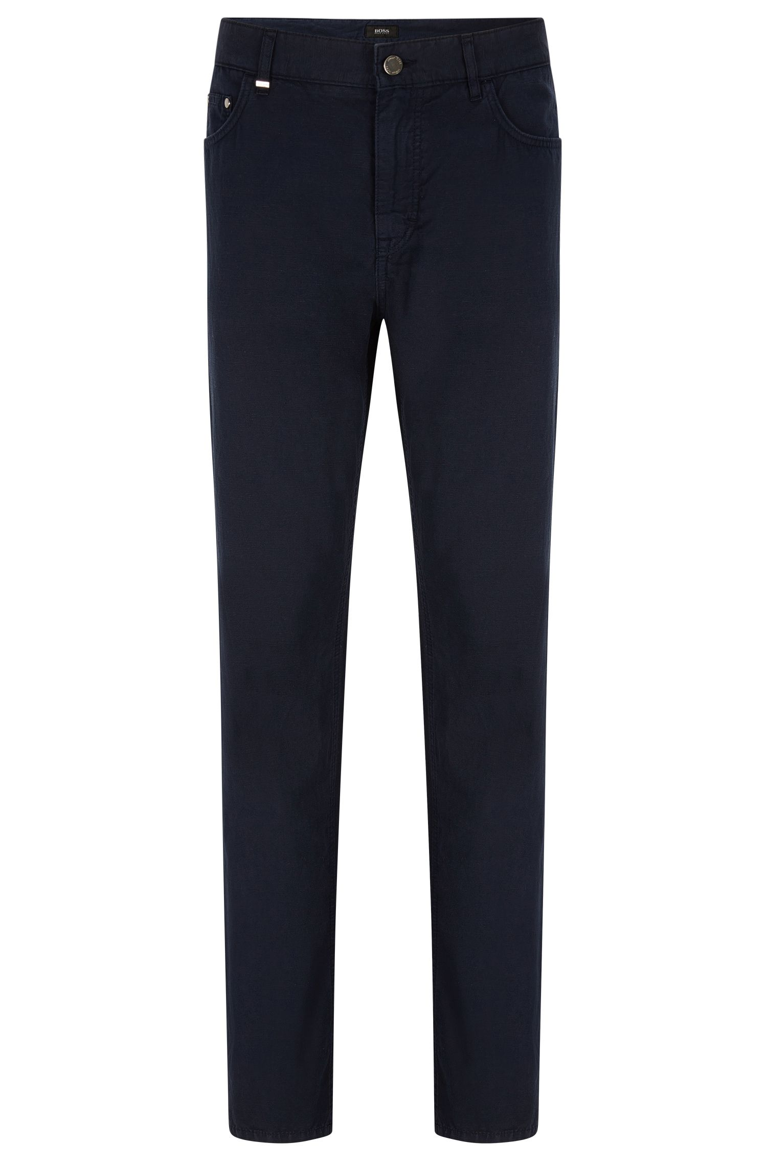 Cotton-Linen Jeans, Relaxed Fit | Albany