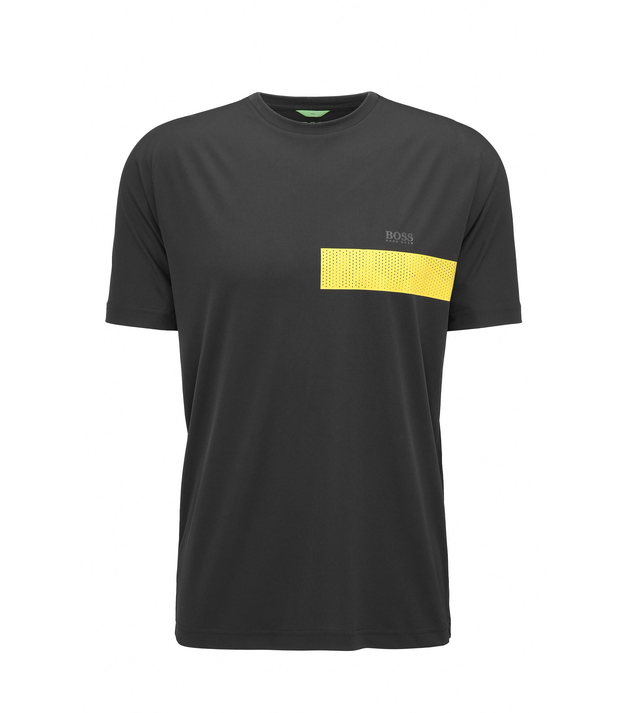 Graphic Print Jersey T-Shirt | Tijotech, Black