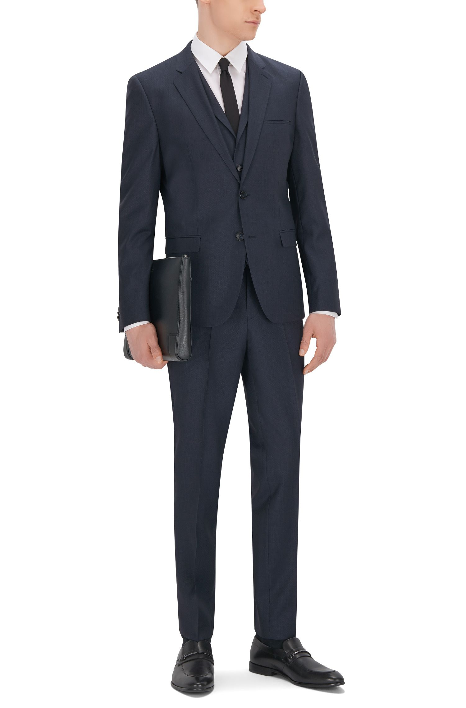 Super 100 Wool 3-Piece Suit, Extra Slim Fit | Adlon/Wandor/Hendrin