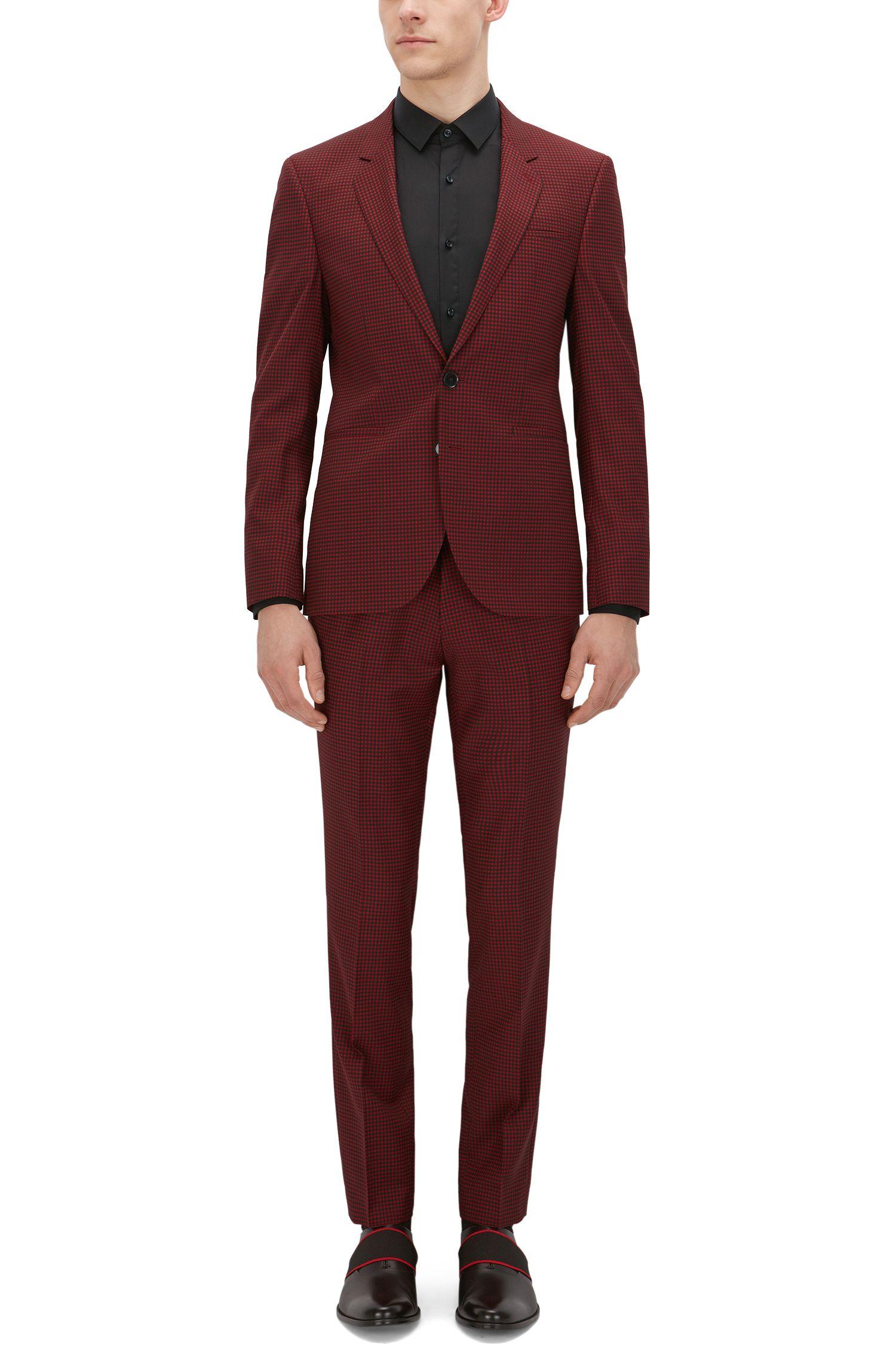 Gingham Super 110 Wool Suit, Extra-Slim Fit | Anwor/Hadlin