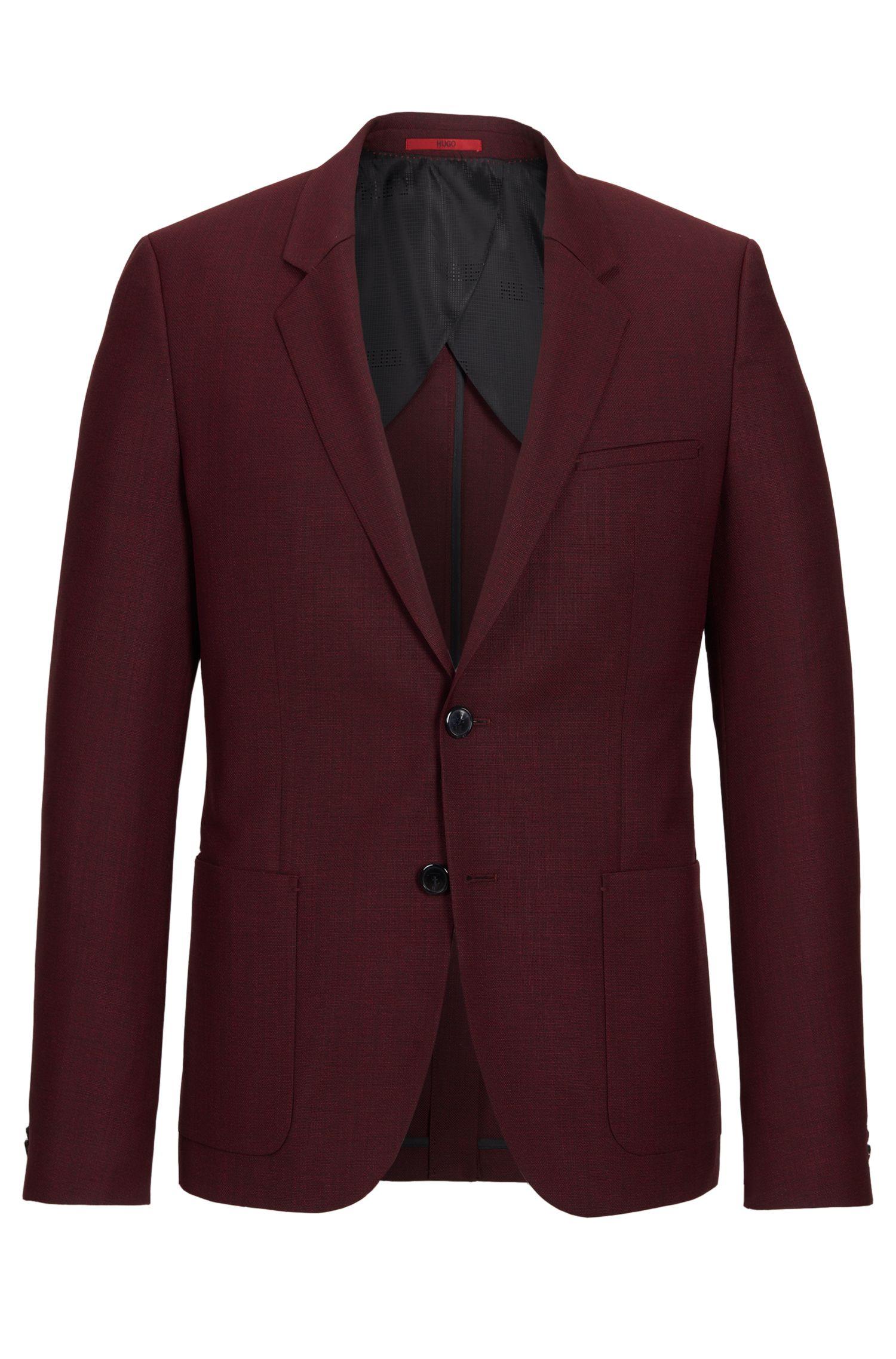 Italian Virgin Wool Sport Coat, Slim Fit   Antanio