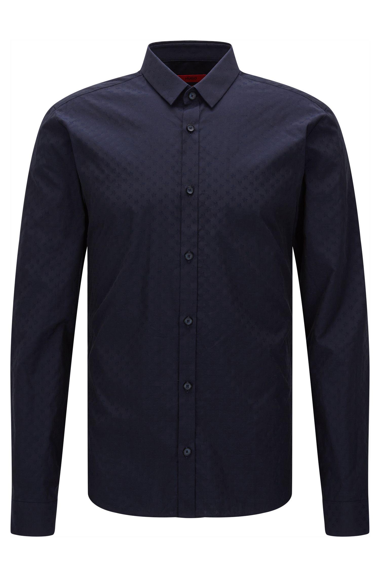 Dobby Cotton Button Down Shirt, Slim Fit | Ero