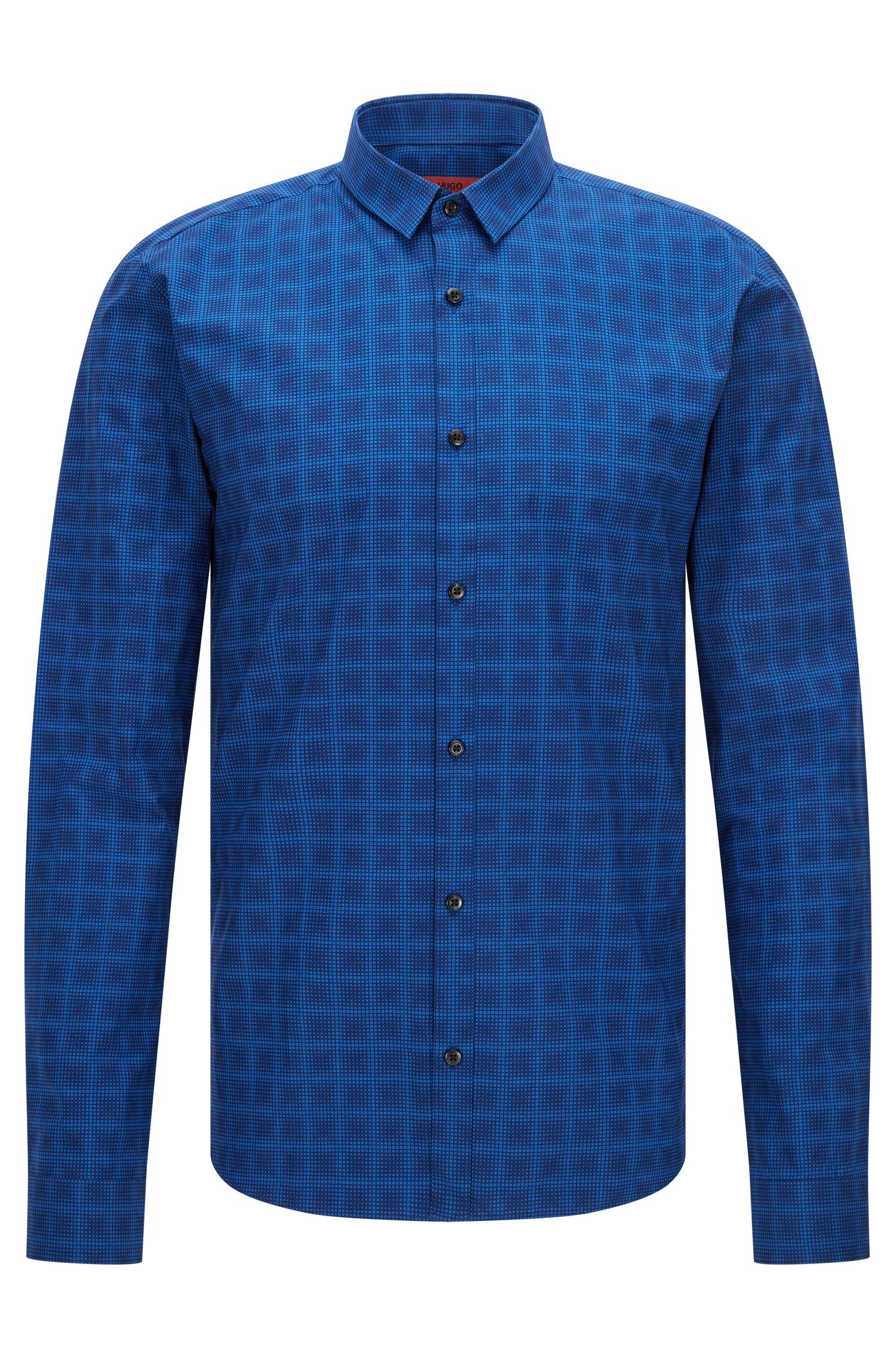 'Ero' | Extra-Slim Fit, Check Cotton Button Down Shirt