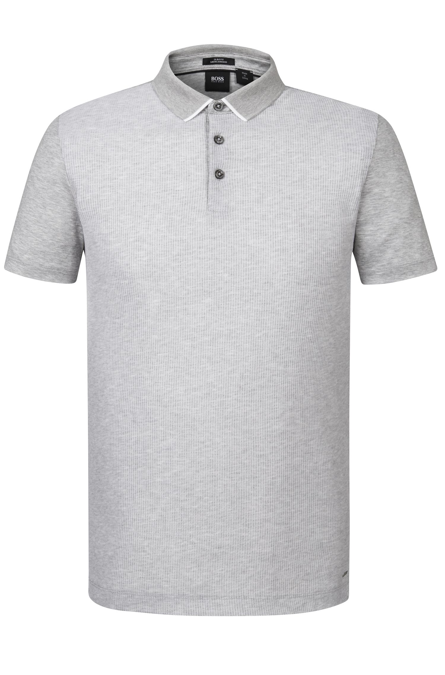 Striped Mercerized Cotton Polo, Slim Fit | Place