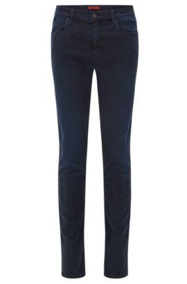 9.5 oz Stretch Cotton Blend Jeans Slim Fit | Hugo 708, Dark Grey